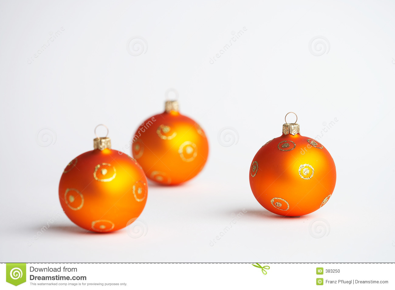 De oranje ballen van de Kerstboom - oranje Weihnachtskugeln