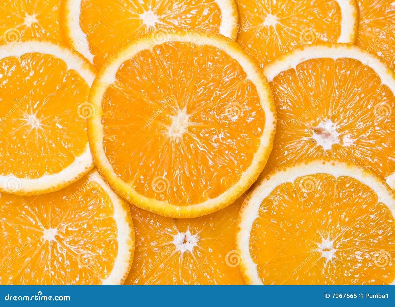 De oranje segmenten van de close-up als achtergronden