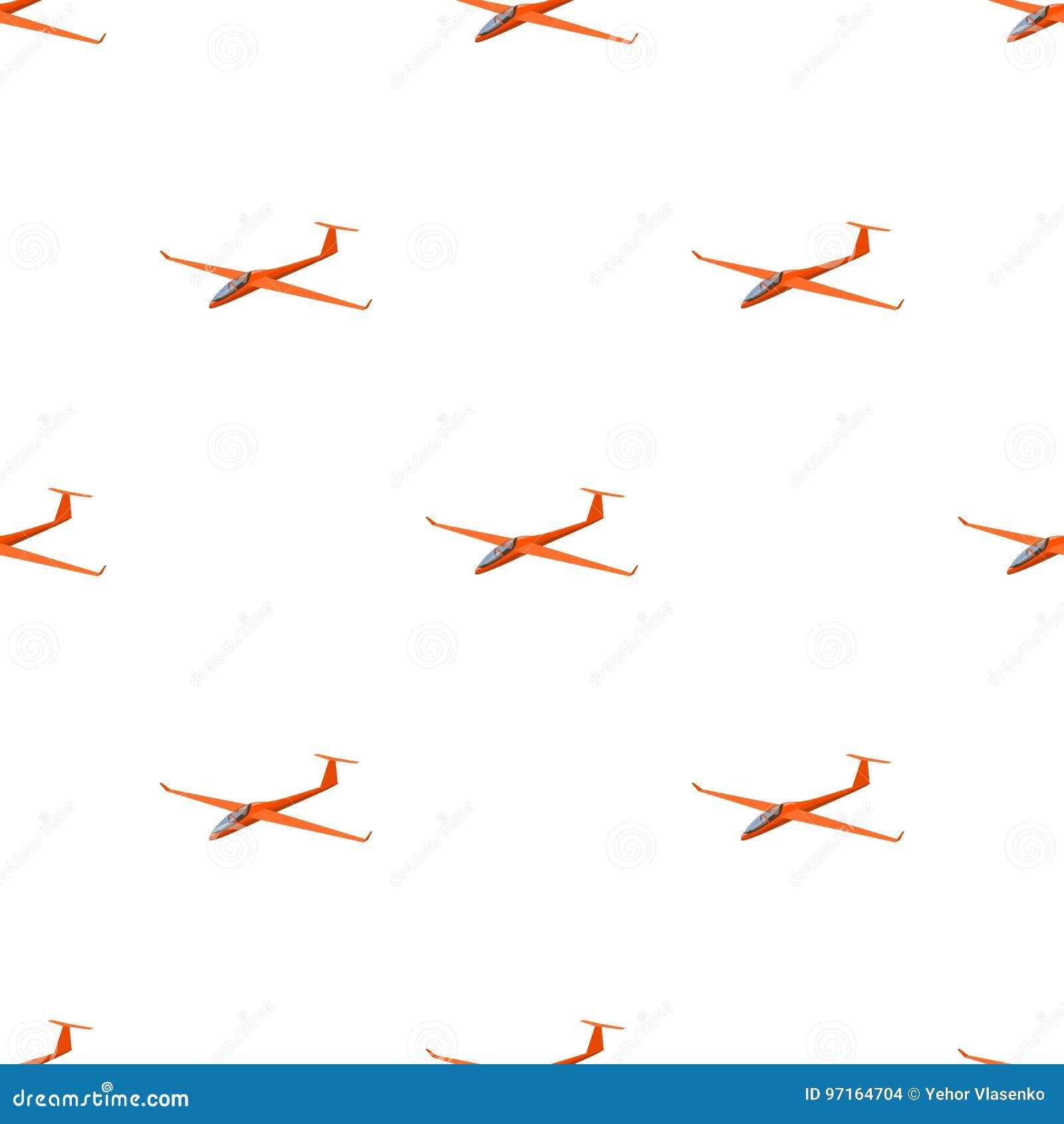 De oranje vechter Hoge snelheidsvliegtuig voor één persoon Vervoer enig pictogram in vector het symboolvoorraad van de beeldverha