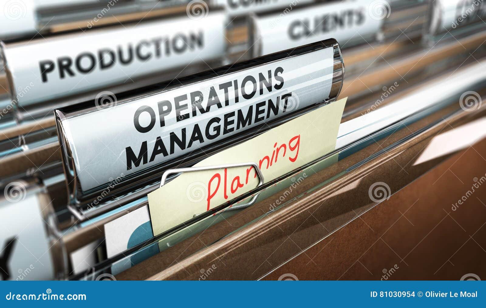 De Organisatie van het productieproces, Verrichtingenbeheer