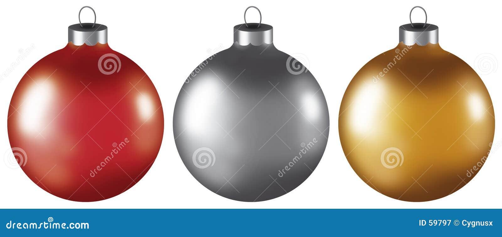 De Ornamenten van de Bal van Kerstmis