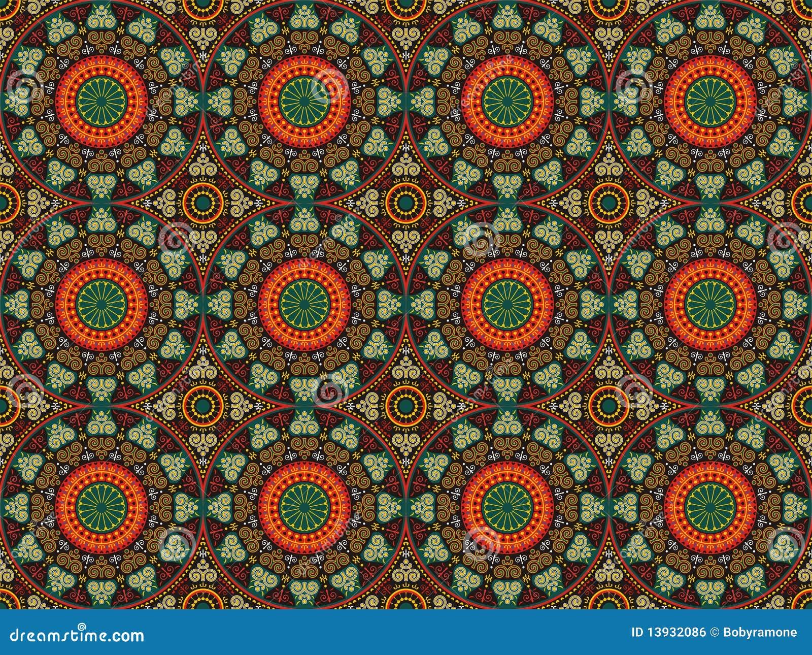 De ornamentendetails en cirkels van patronen