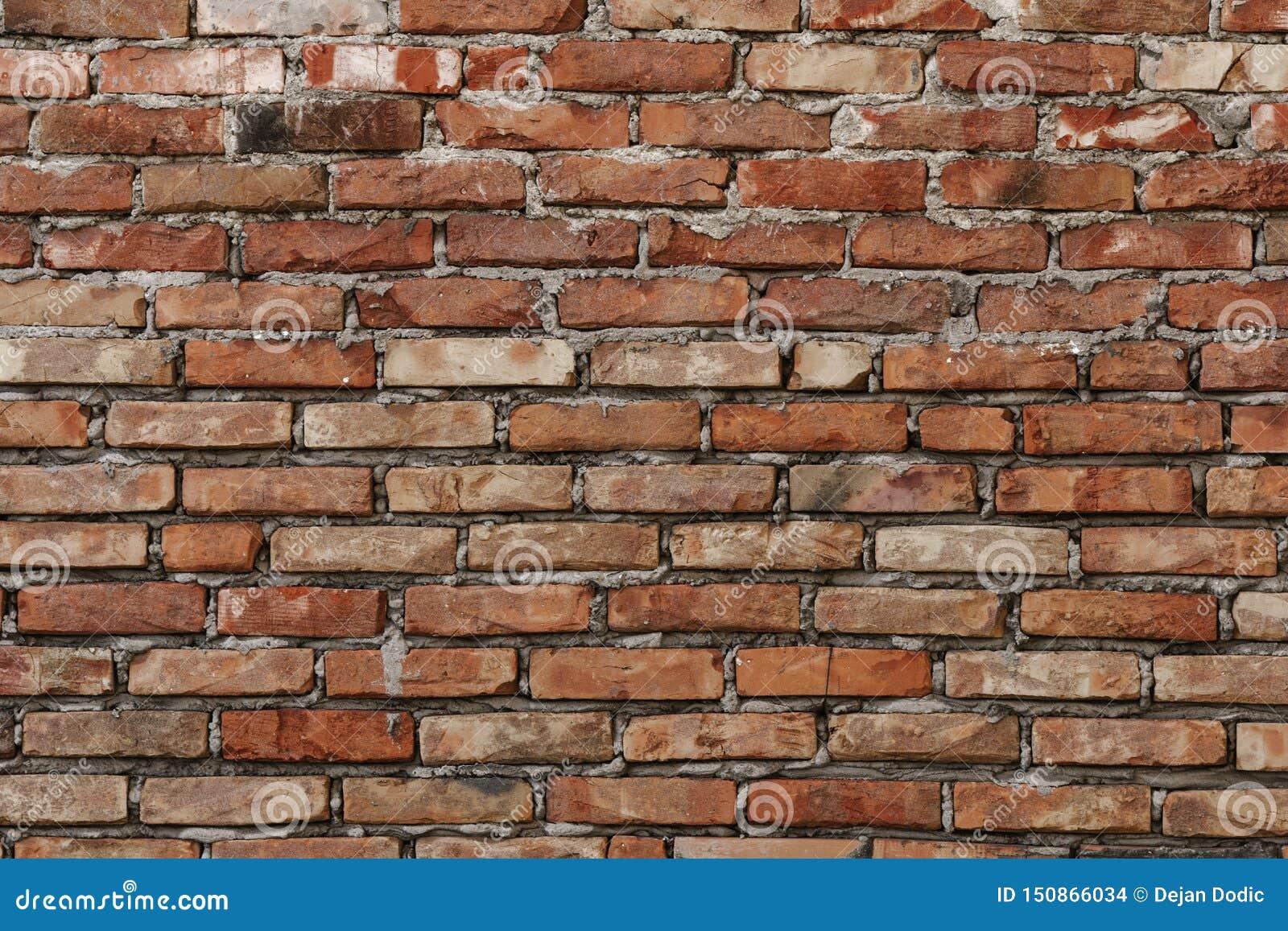 De oude achtergrond van de bakstenen muurtextuur