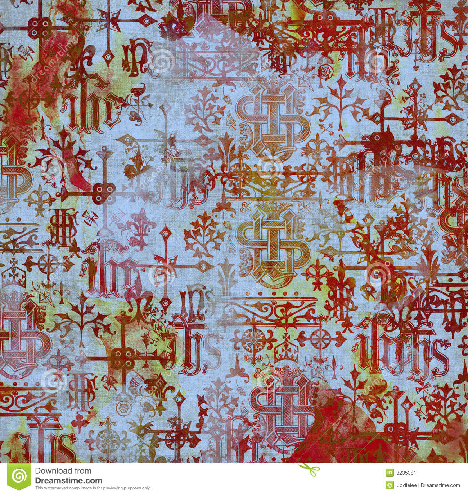 De oude Achtergrond van het Alfabet