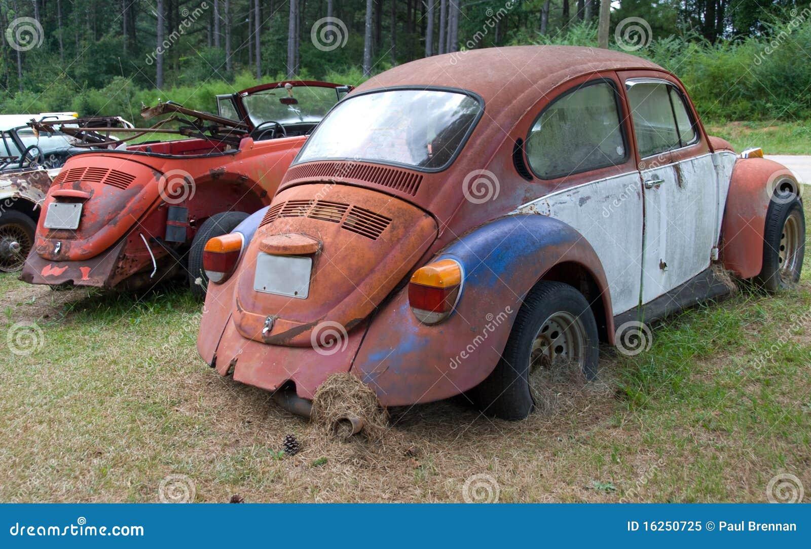De Oude Auto S Van Volkswagen Stock Afbeelding
