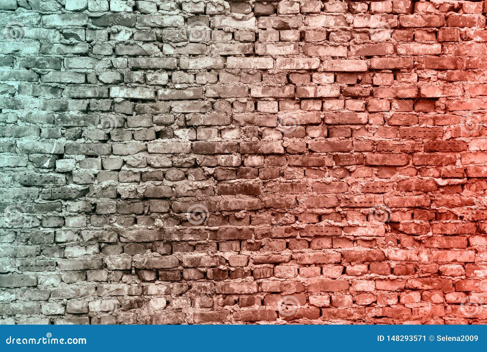 De oude bakstenen muren De textuur van de baksteen Oude muur Kan als prentbriefkaar worden gebruikt Rode, bruine baksteenachtergr