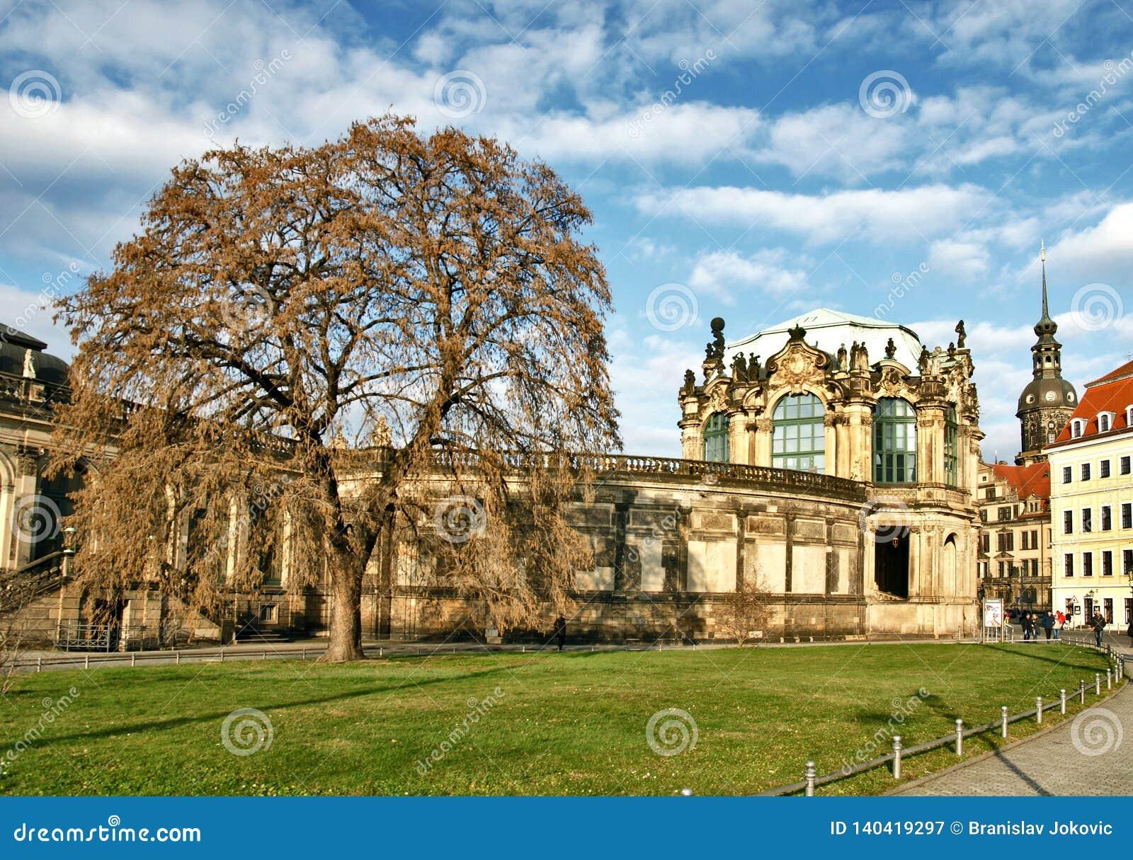De oude bouw van Dresden