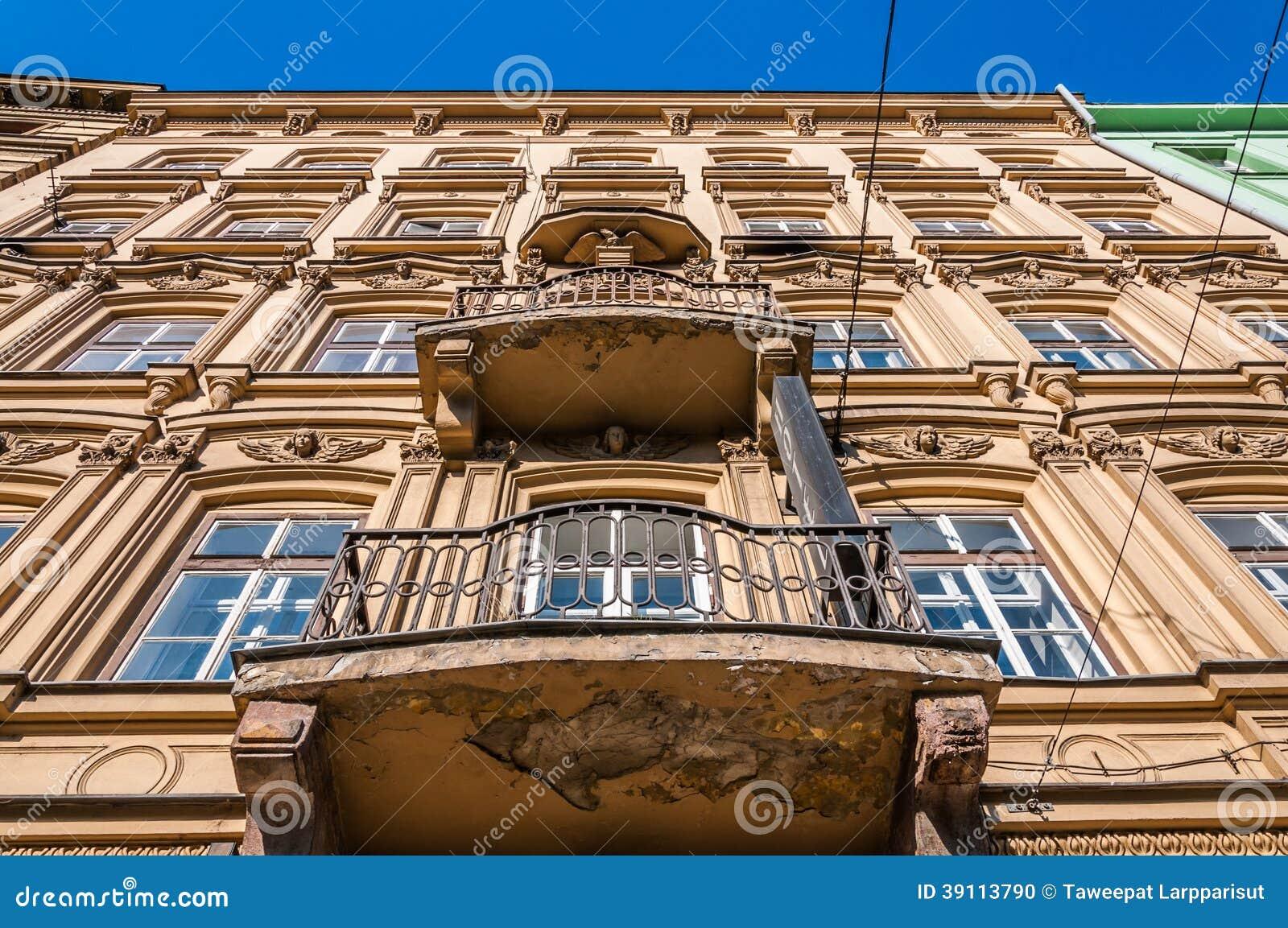 De oude bouw van Europa