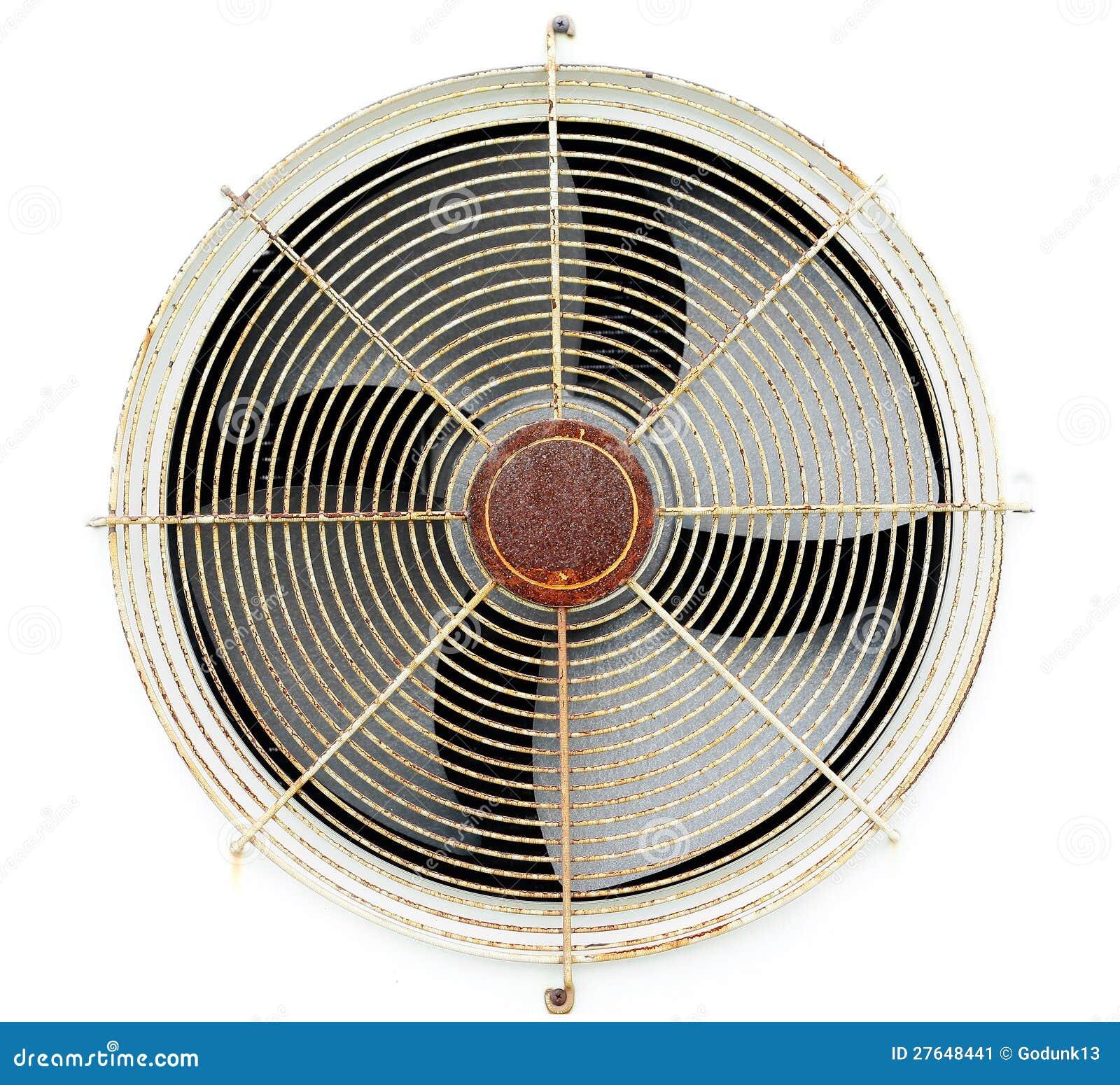 De oude compressor van de ventilatorlucht