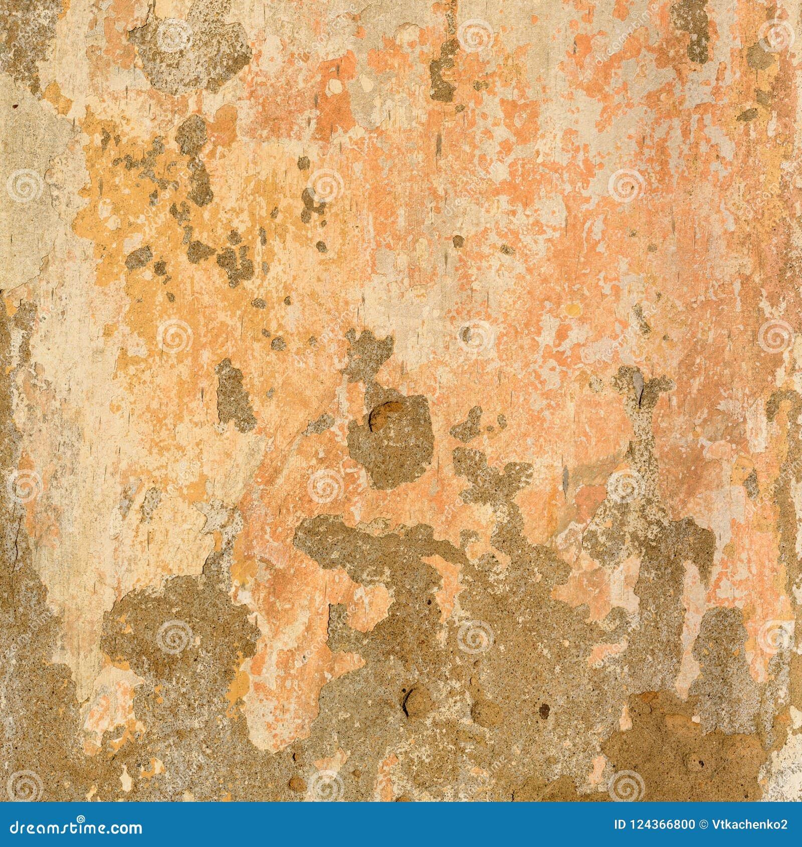 De oude Concrete Geschilderde Beige Textuur van de Pastelkleurmuur