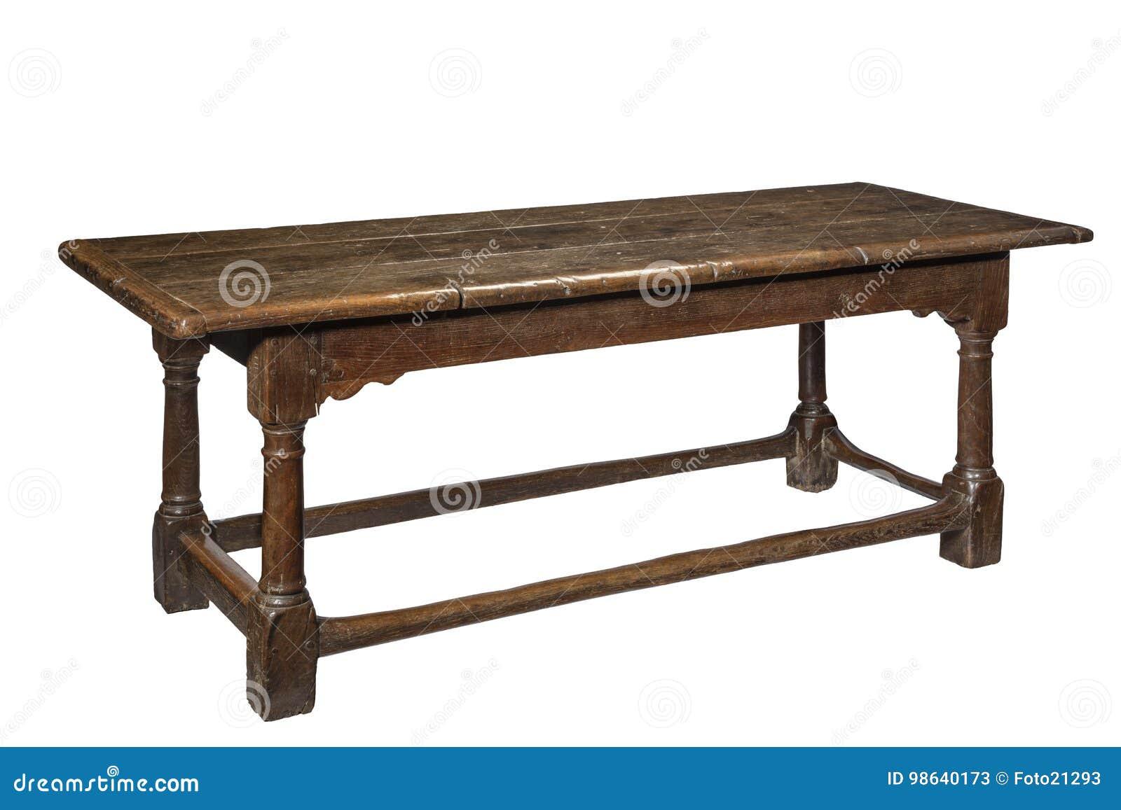 Oude Antieke Eettafel.De Oude Eettafel Van De De Zeventiende Eeuw Eiken Eetzaal