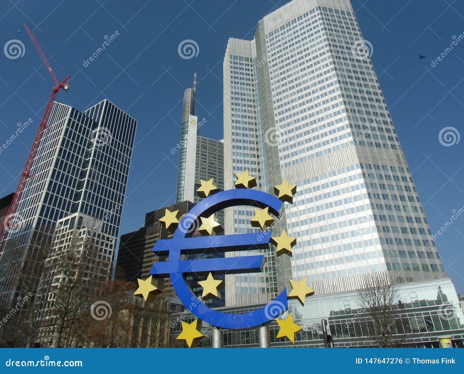 De oude Europese Centrale Bankbouw in Frankfurt