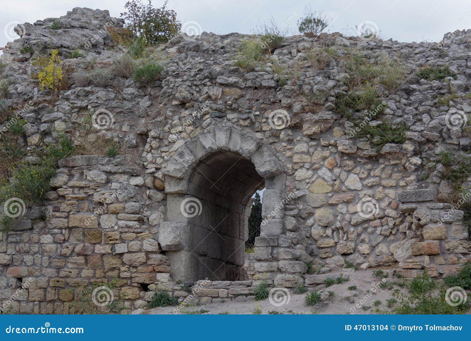 De oude Griekse stad Chersonesus in de Krim