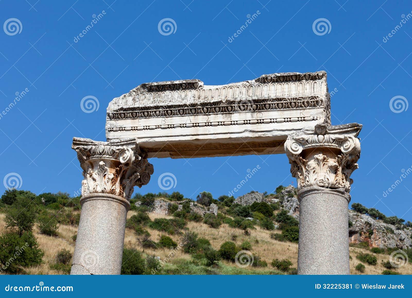 De oude griekse stad ephesus stock afbeelding afbeelding 32225381 - Oude griekse decoratie ...