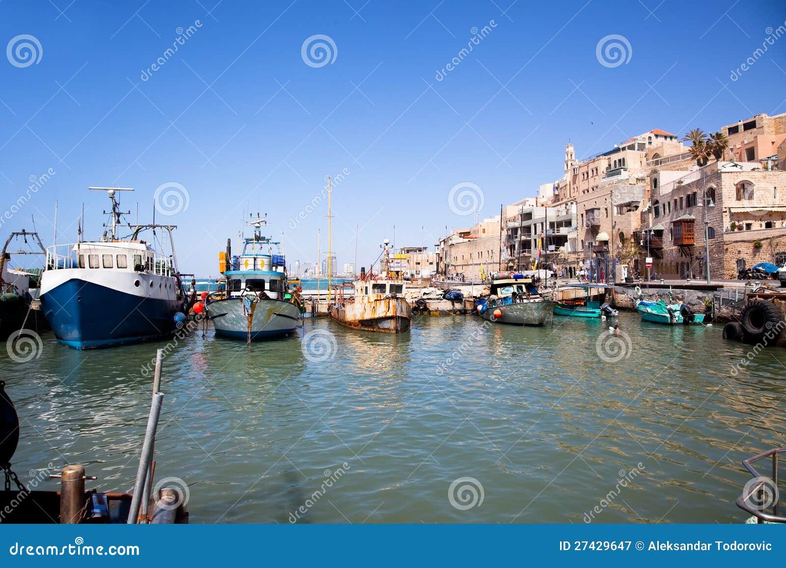 De oude haven van Jaffa. Tel Aviv, Israël