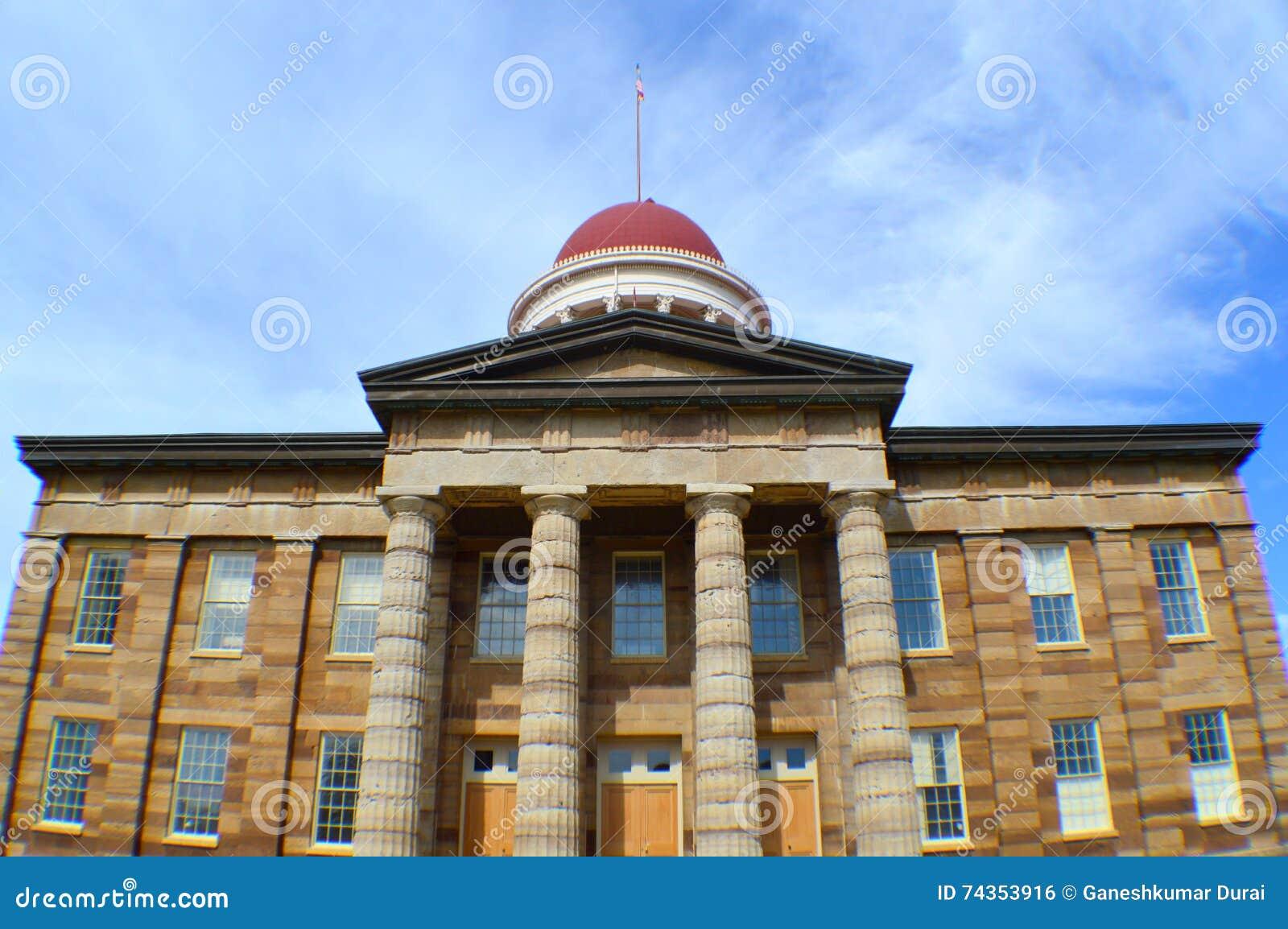 De oude het Capitoolbouw van de Staat in Springfield