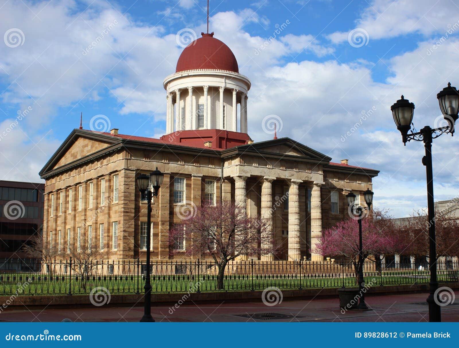 De oude het Capitoolbouw van de Staat, Springfield, IL