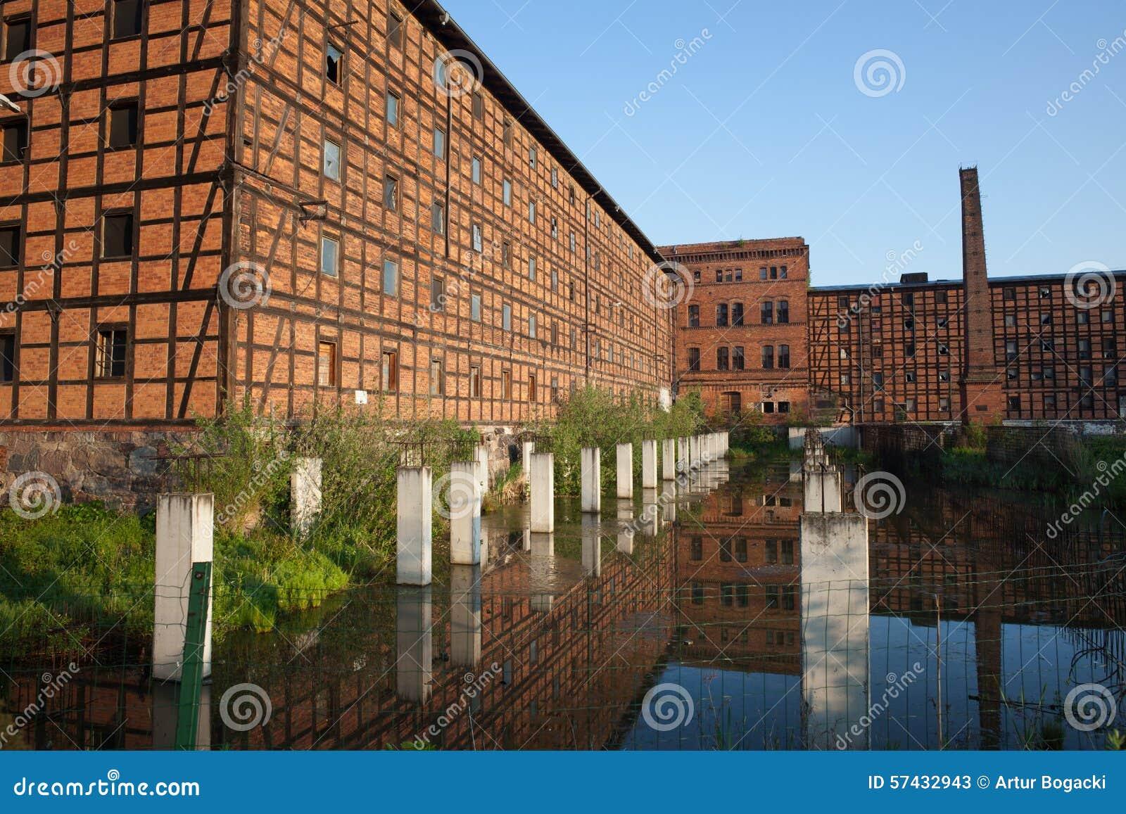 De oude Industriële Bouw op Moleneiland in Bydgoszcz