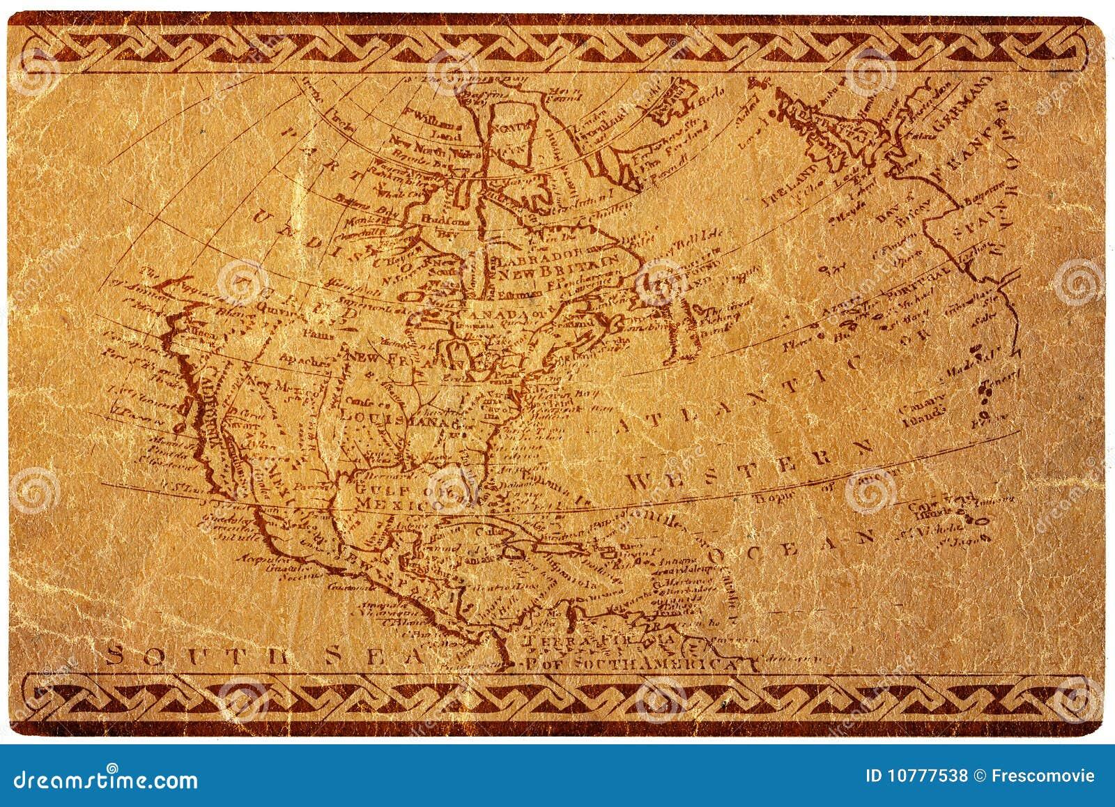 De oude kaart van de V.S.