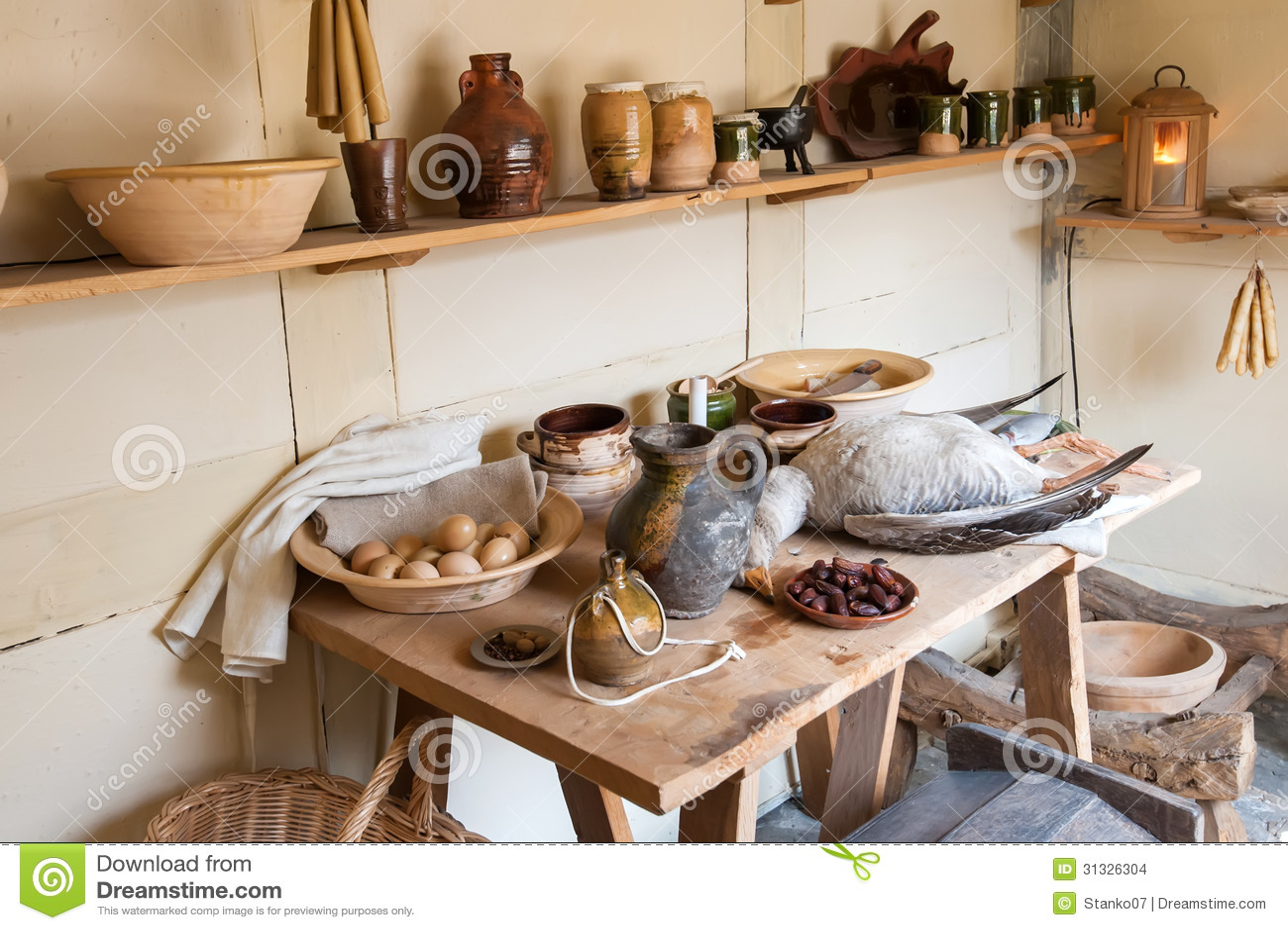 De keuken van het land royalty vrije stock foto's   afbeelding ...