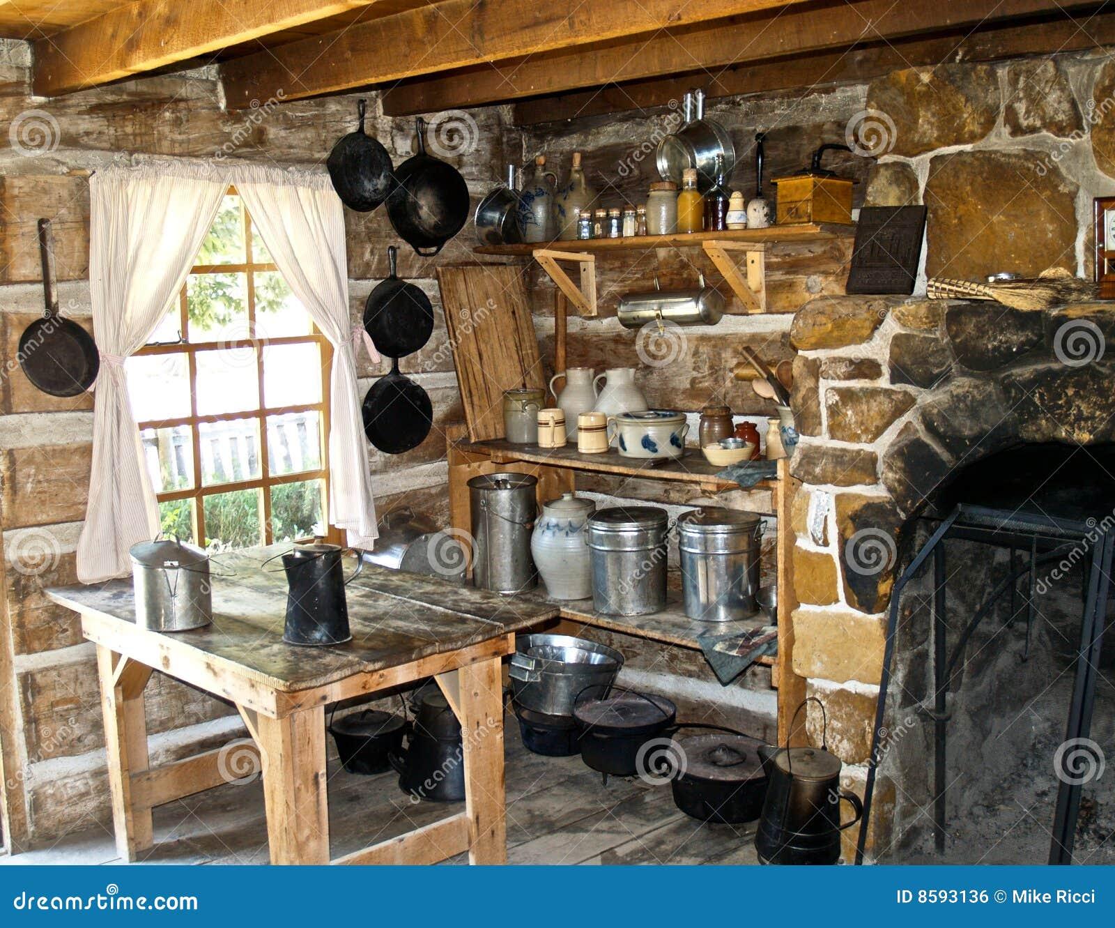 De oude keuken van het westen royalty vrije stock afbeelding afbeelding 8593136 - Oude stijl keuken wastafel ...