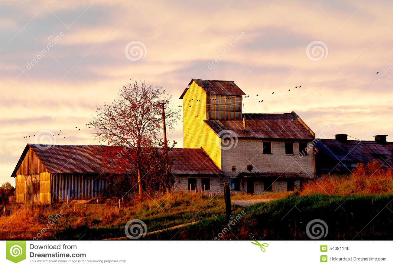 De oude landbouwbedrijfbouw