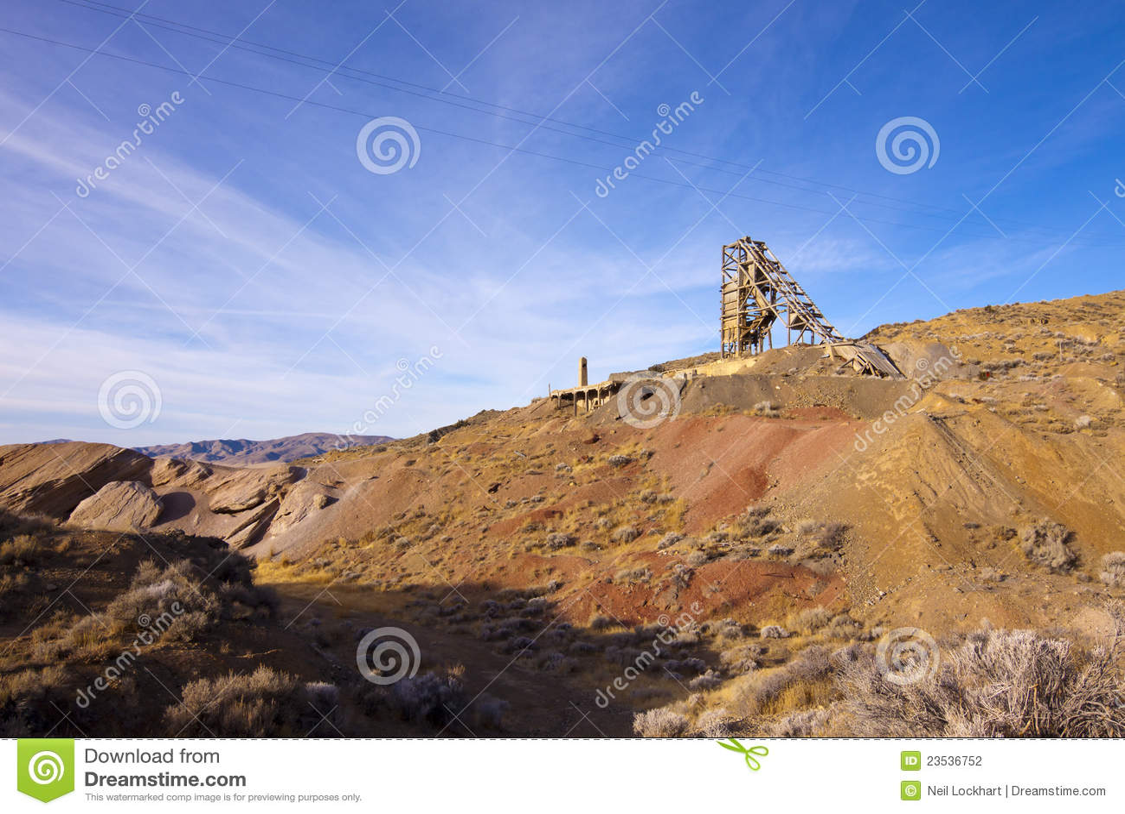 De oude Mijn van het Kwik van Nevada