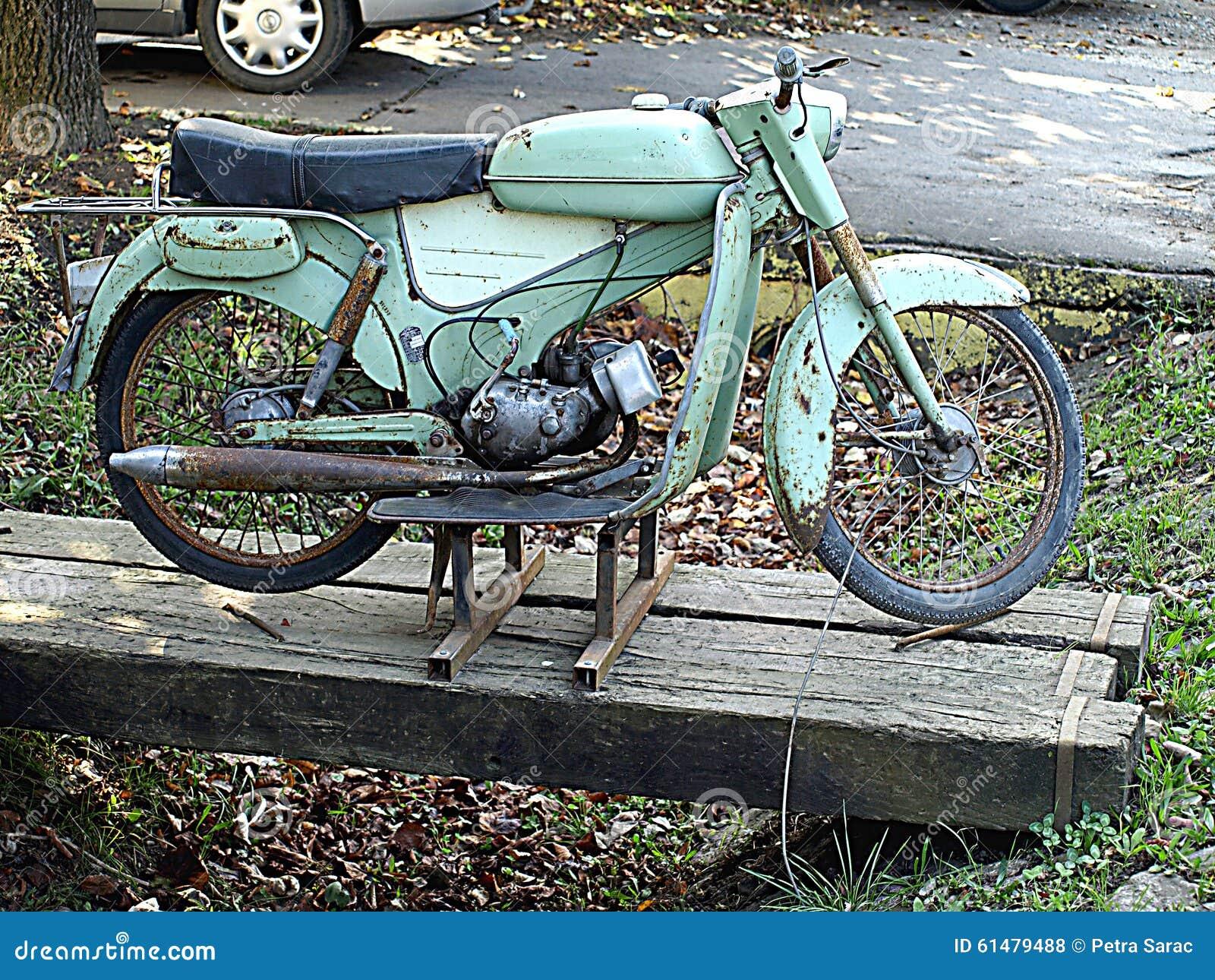 De oude motorfietsen