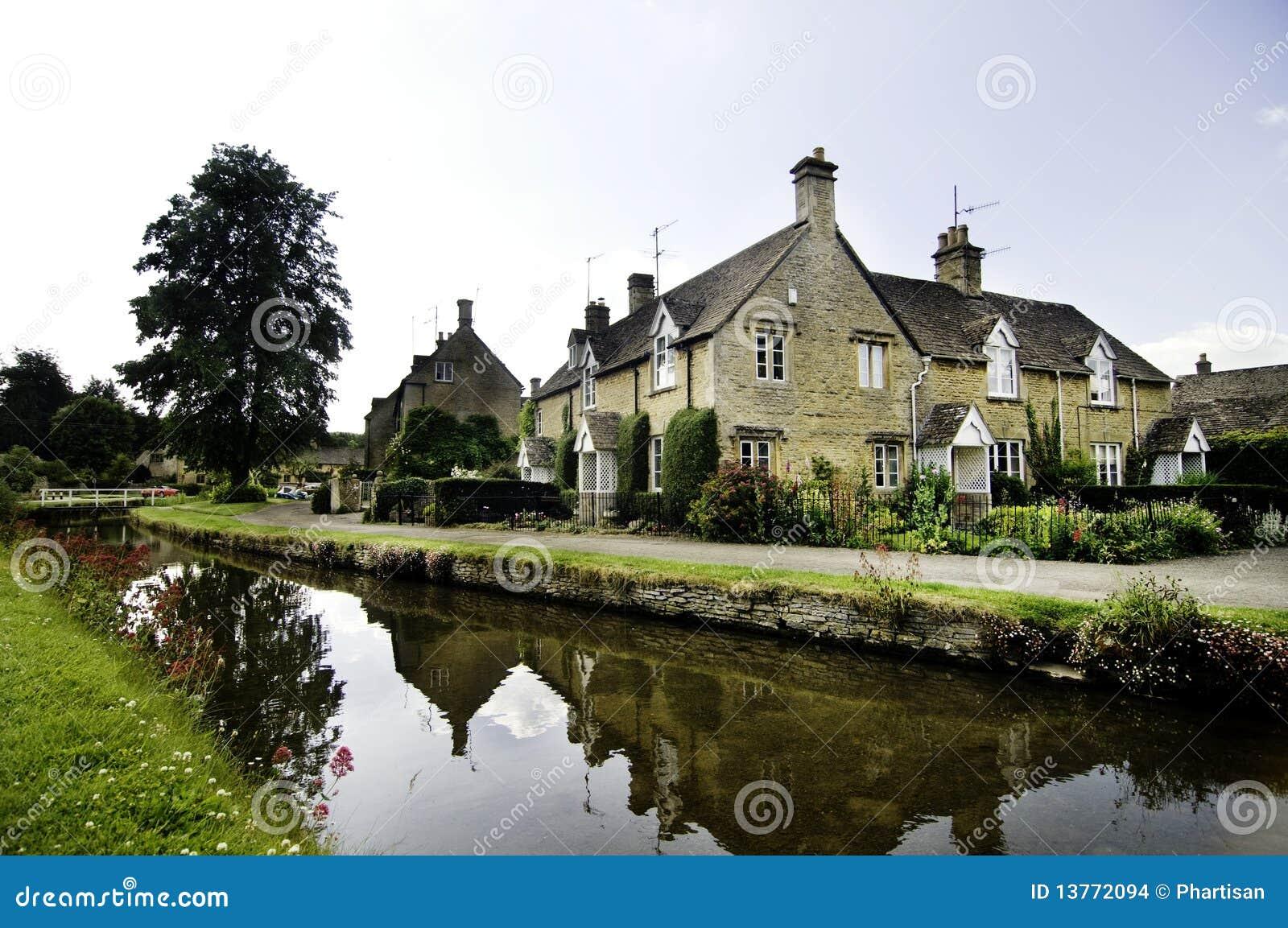 De oude quaint Engelse stad van het landdorp