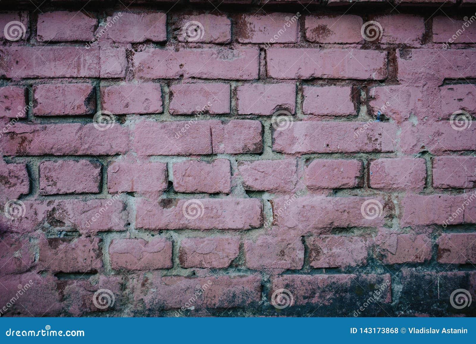 De oude rode achtergrond van de bakstenen muurtextuur
