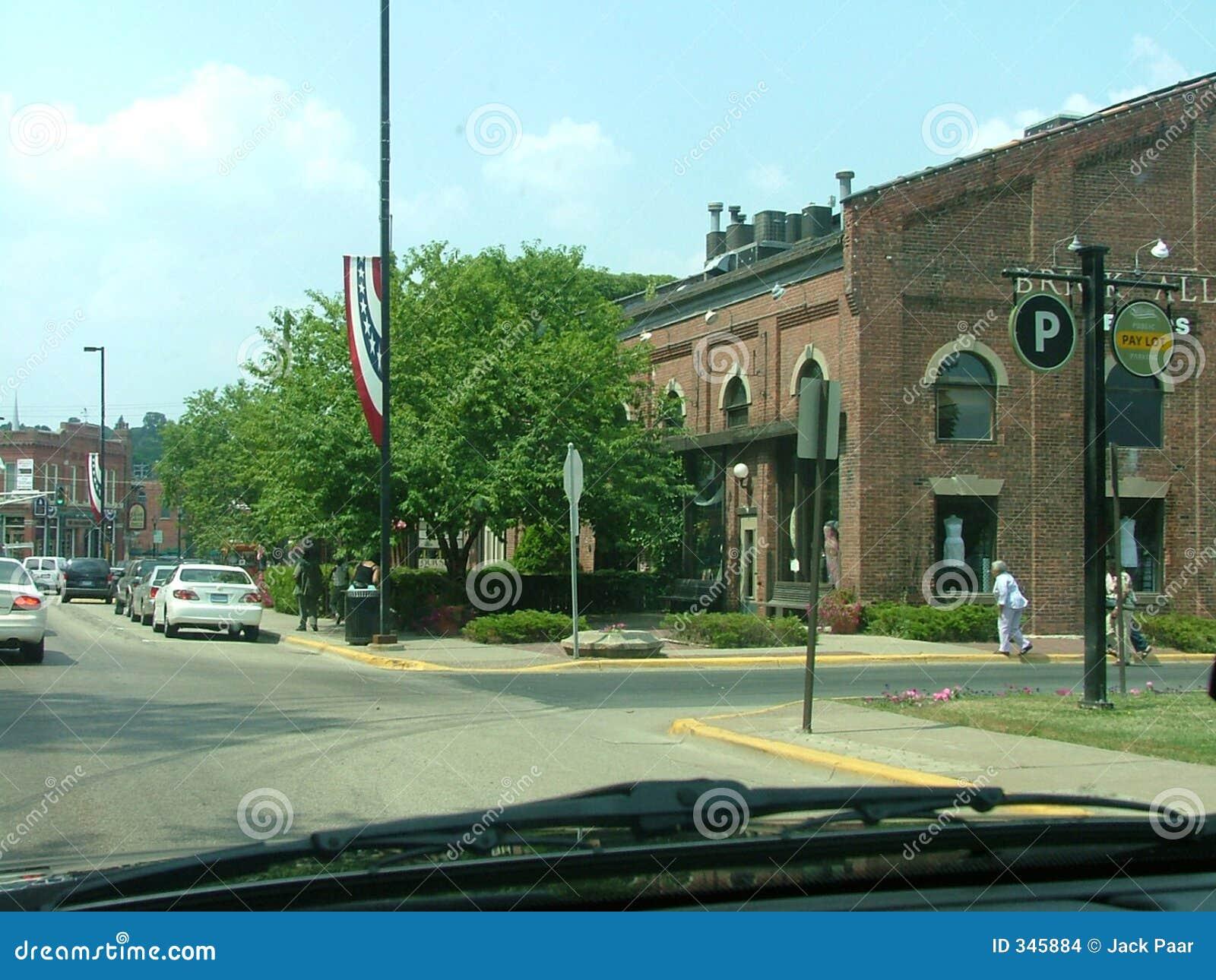 De oude Scène van de Straat van de Stad