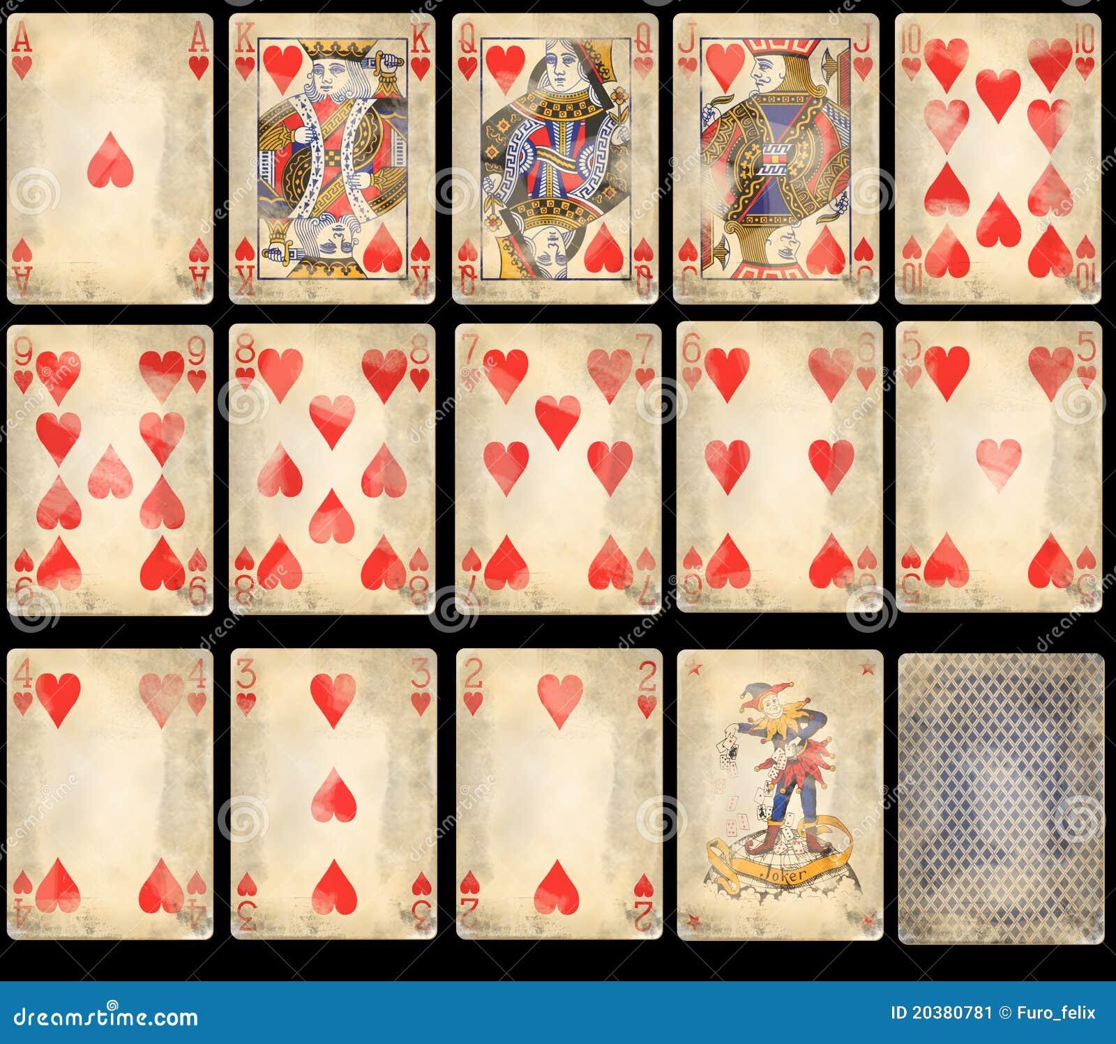 De oude Speelkaarten van de Pook - Harten