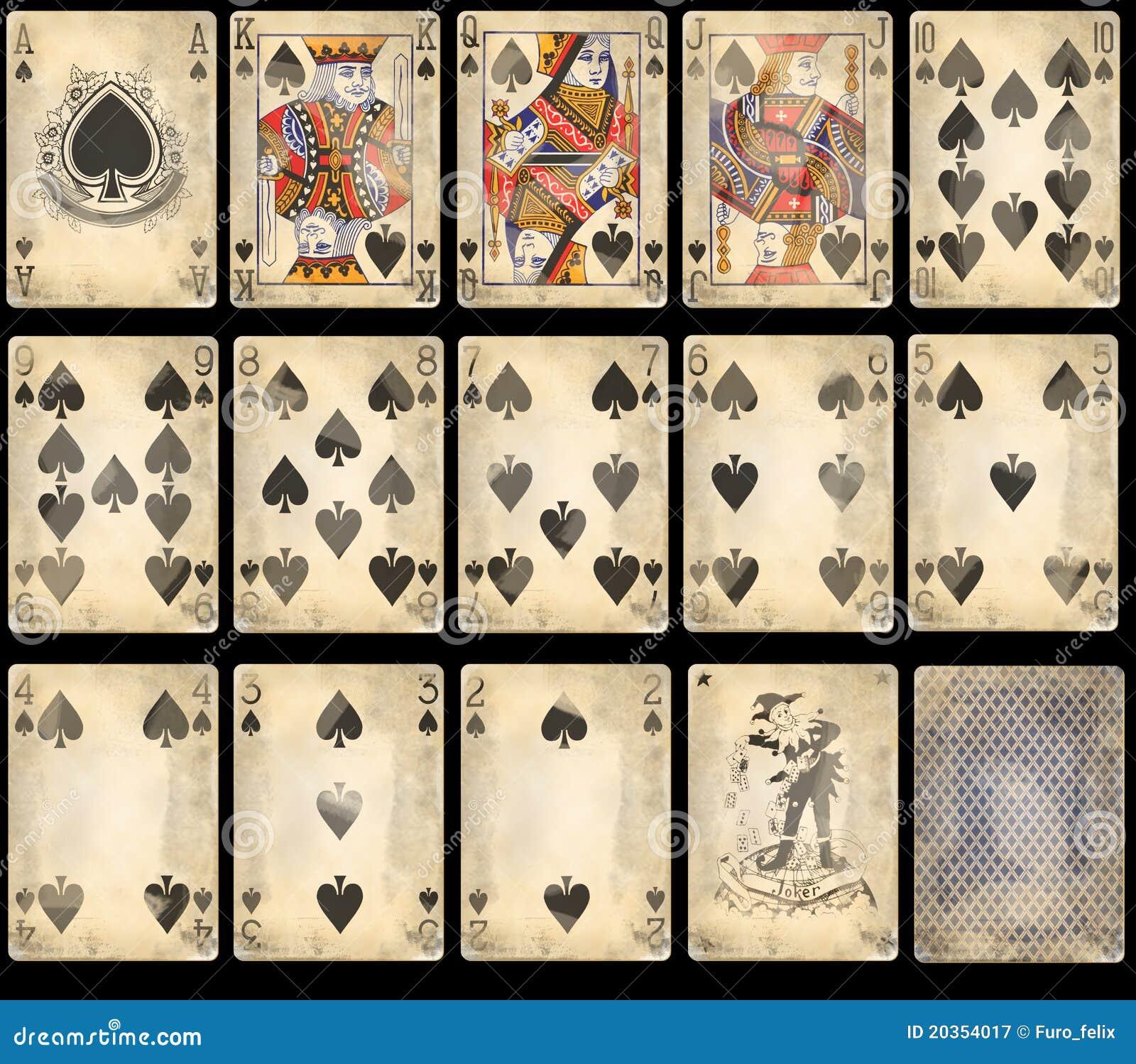 De oude Speelkaarten van de Pook - Spades