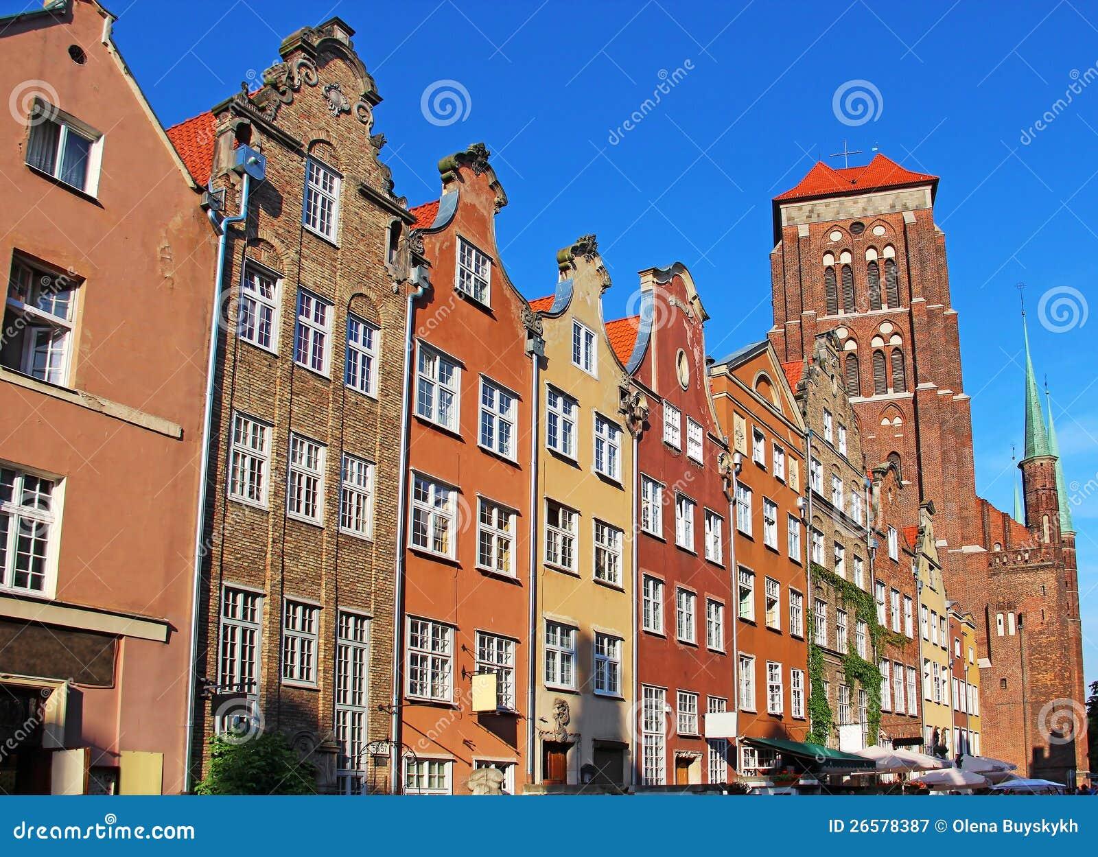 De oude stad van Gdansk, Polen