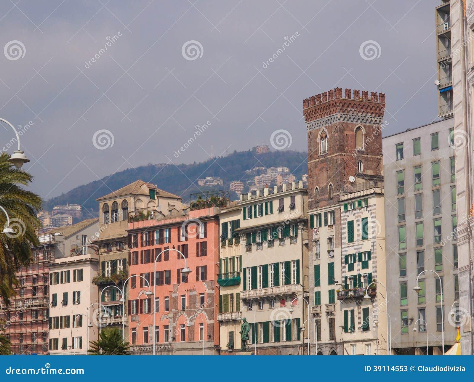 De oude stad van Genua
