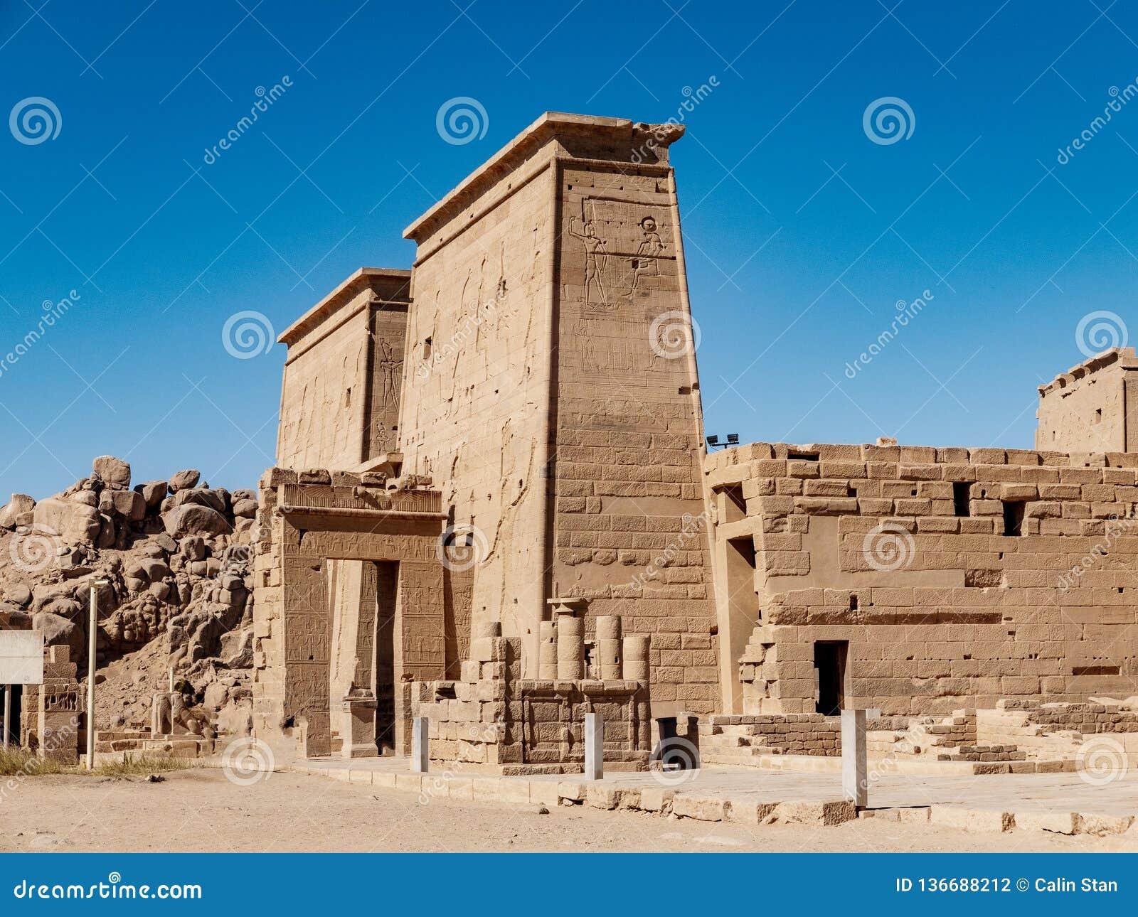 De oude tempel van Egypte van Philae