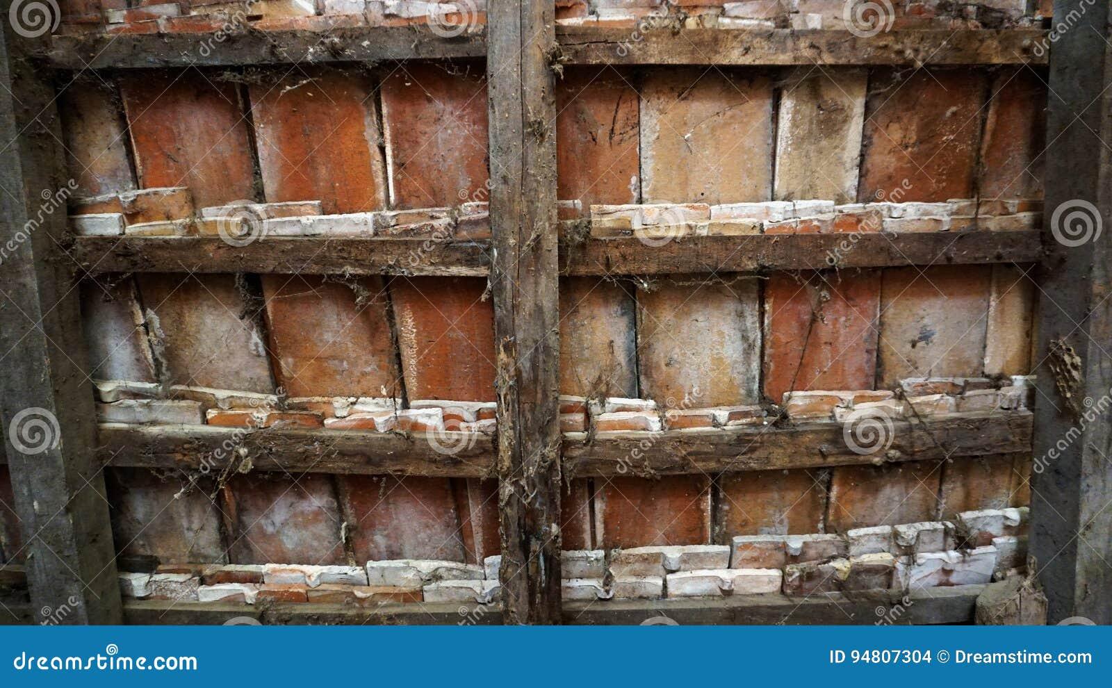 De oude textuur van de boerderijtegel