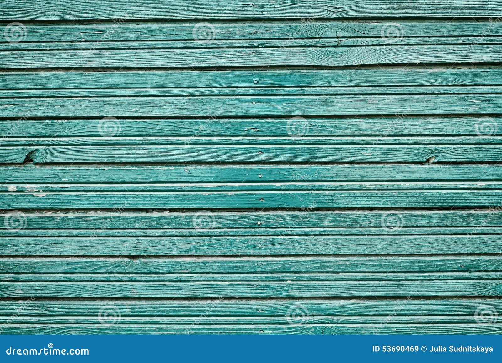 De oude uitstekende houten planken met blauwe kleur schilderen ...