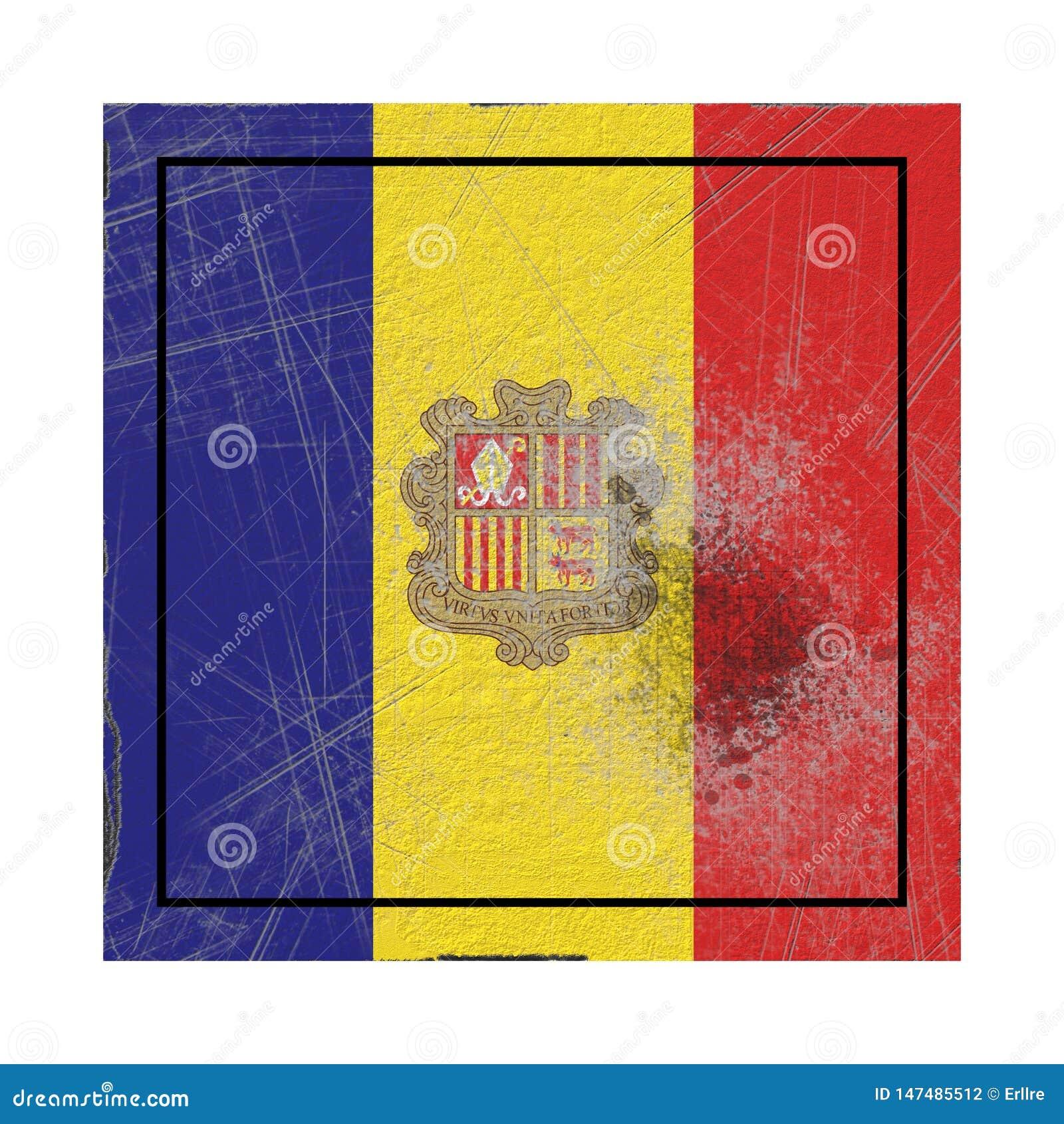 De oude vlag van Andorra
