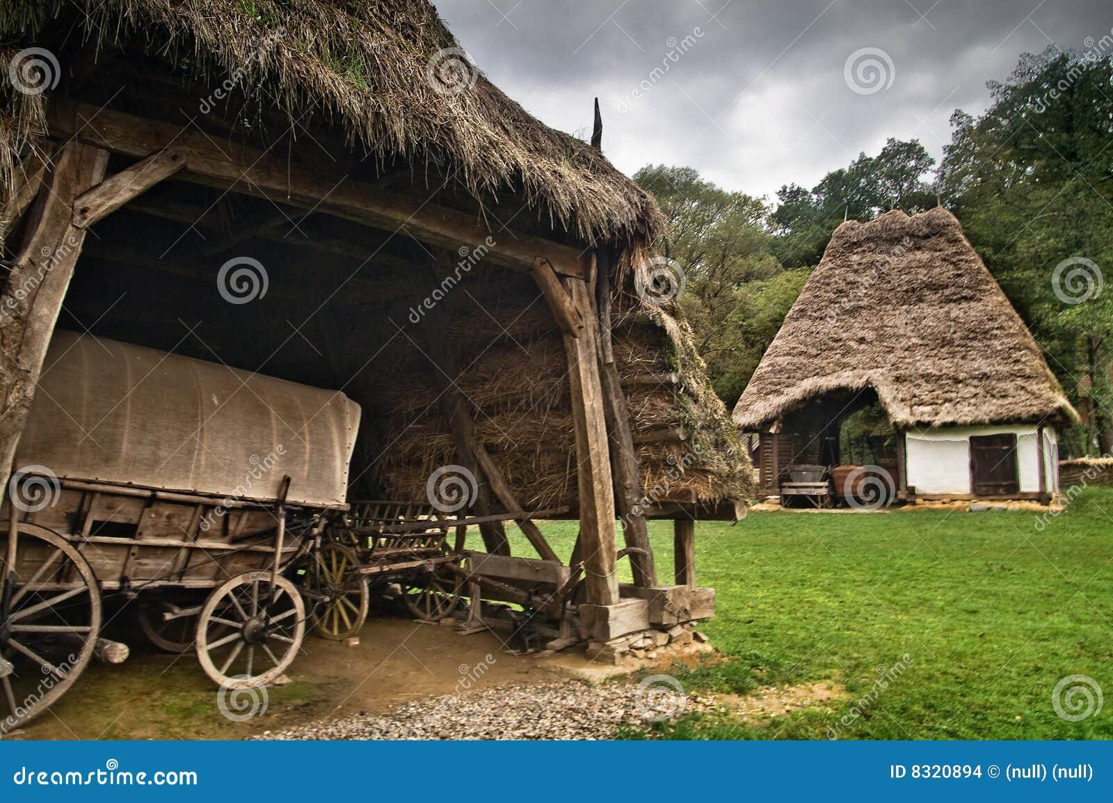 De oude wagen