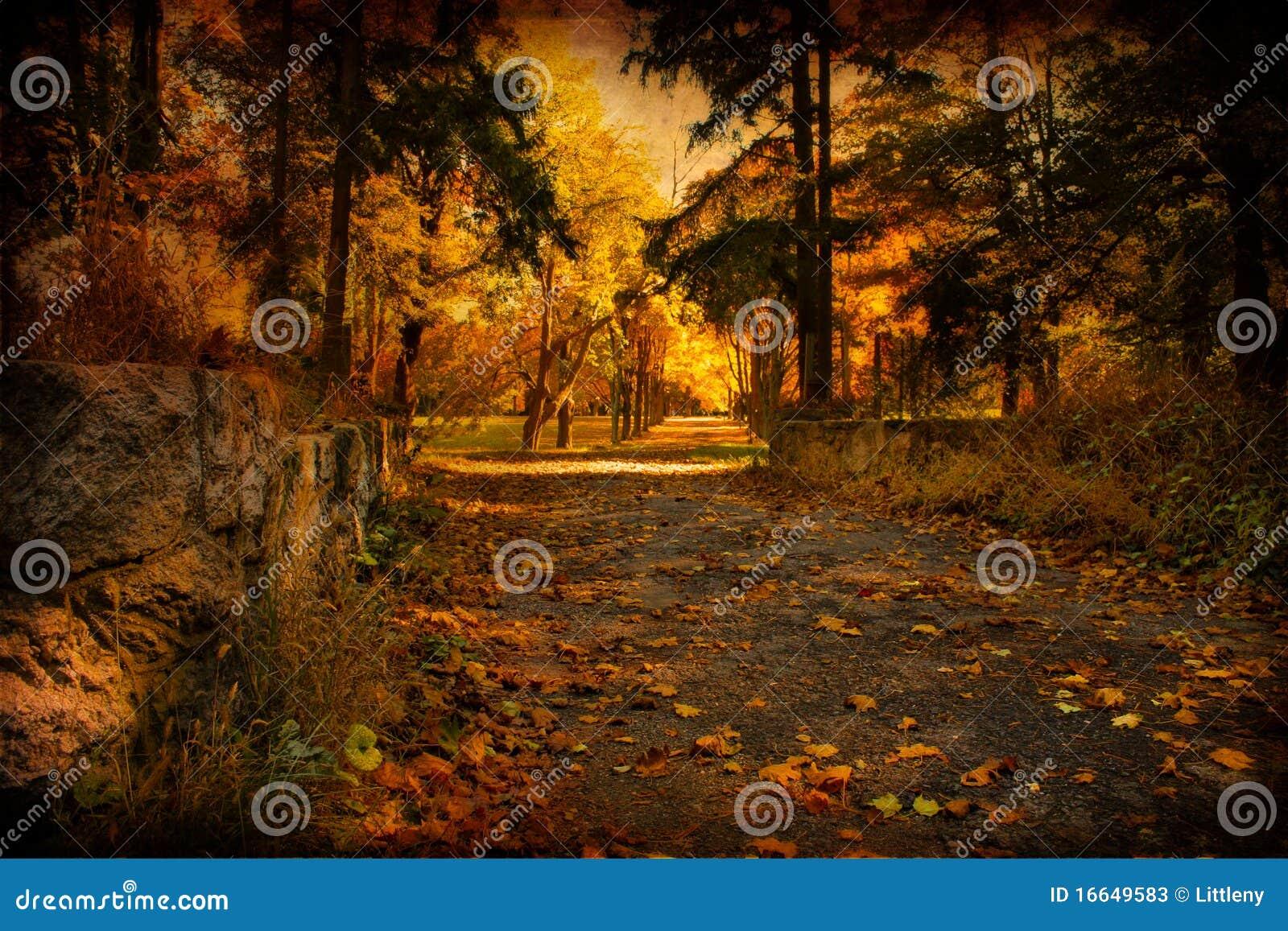 De oude Weg van de Herfst