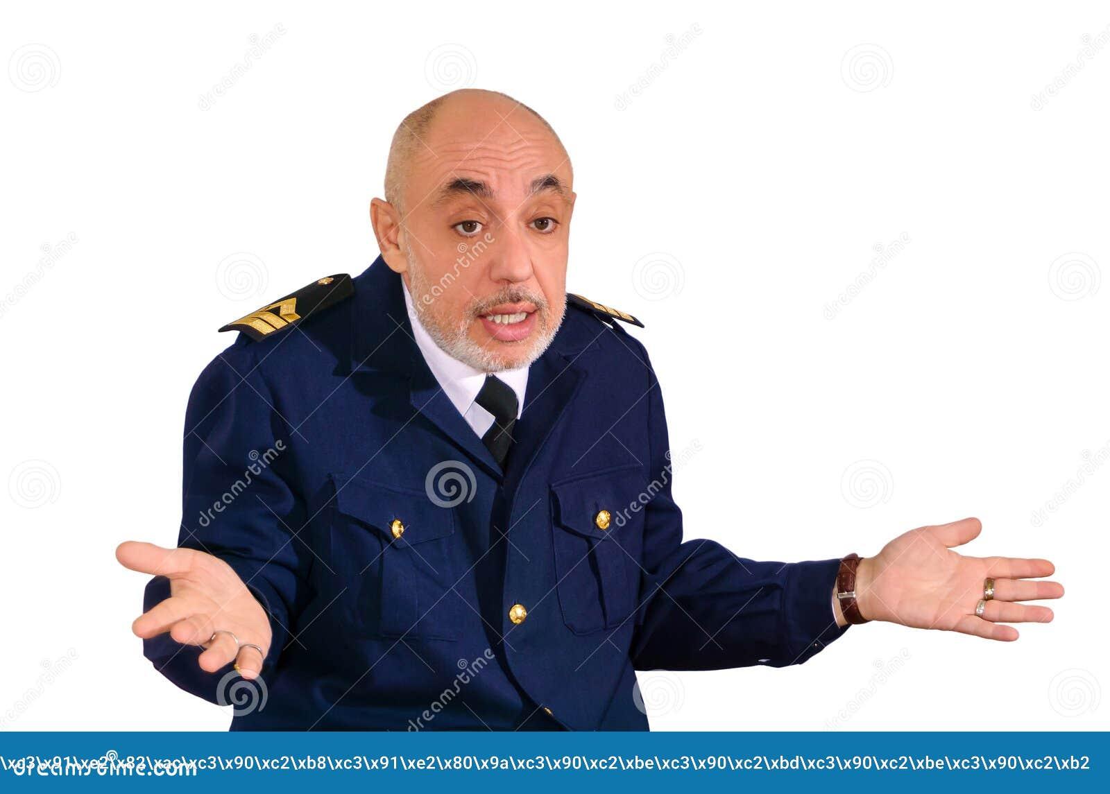 De oude zeeman weet geen wat om te antwoorden