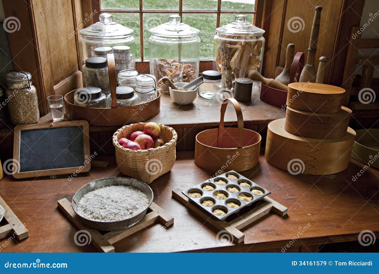 De ouderwetse keuken van het land stock afbeelding afbeelding 34161579 - Deco keuken oud land ...