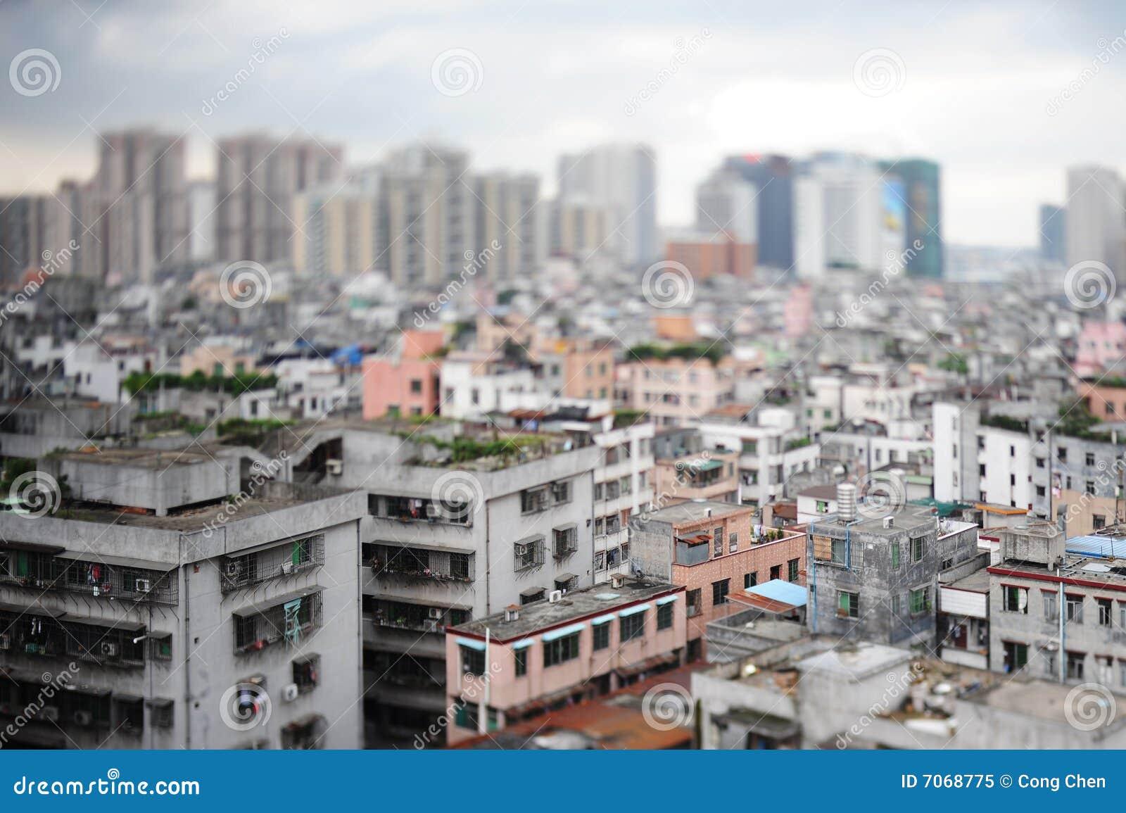 De oversteekplaatsstad van het land, Shipai, Guangzhou, China