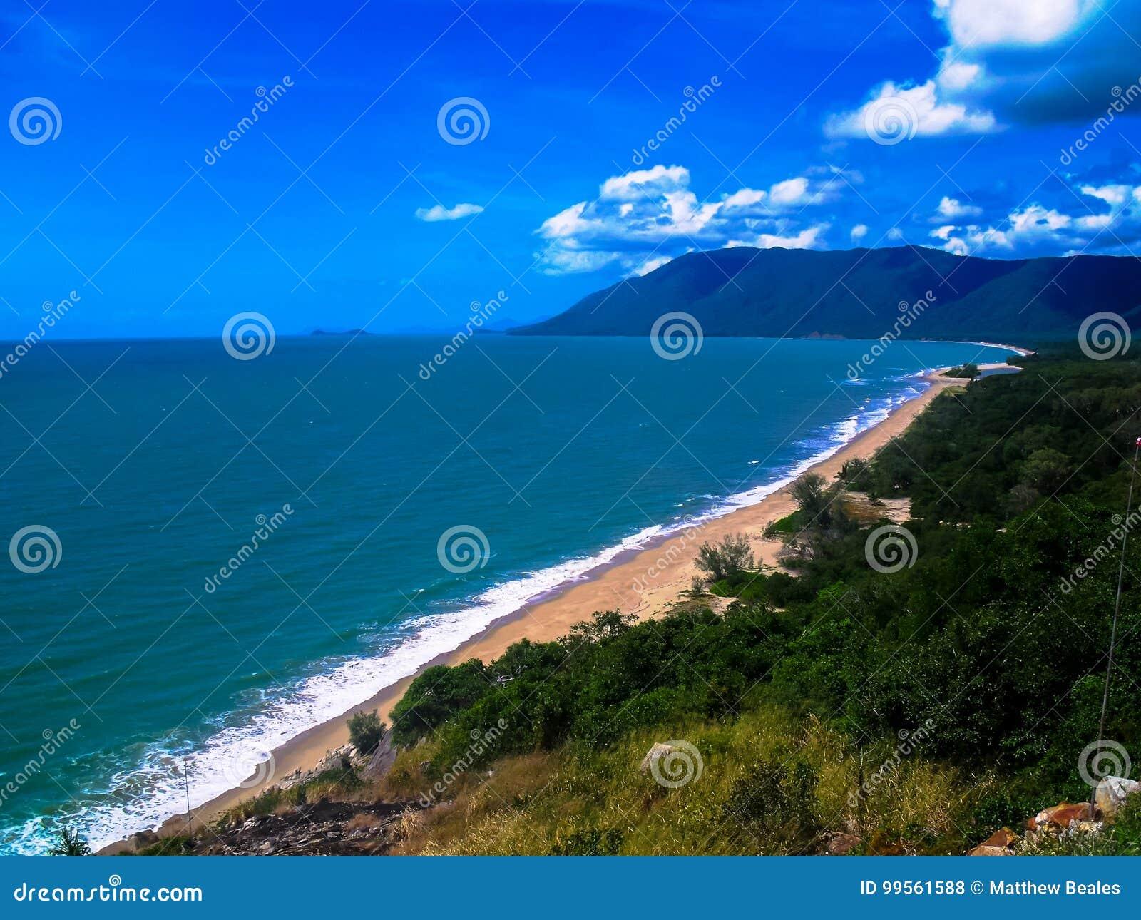 De overweldigende kustlijn van Steenhopen, Australië