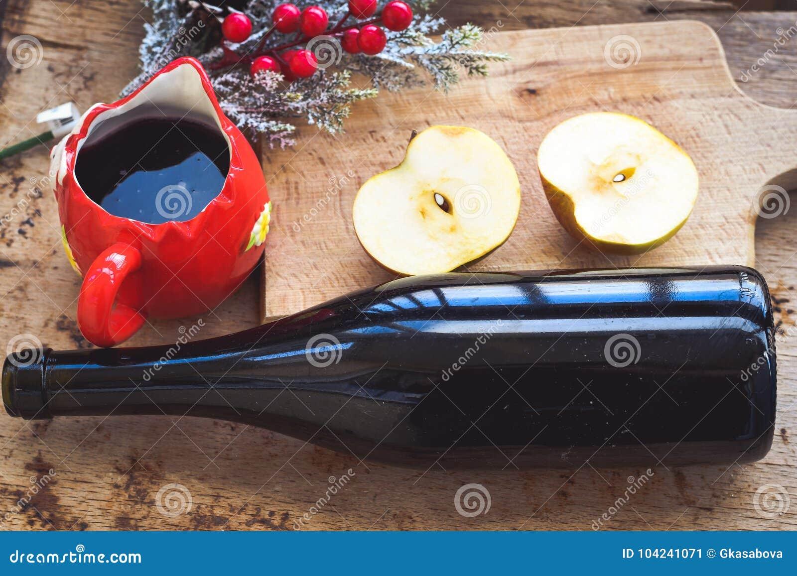 De overwogen ingrediënten van het wijnrecept