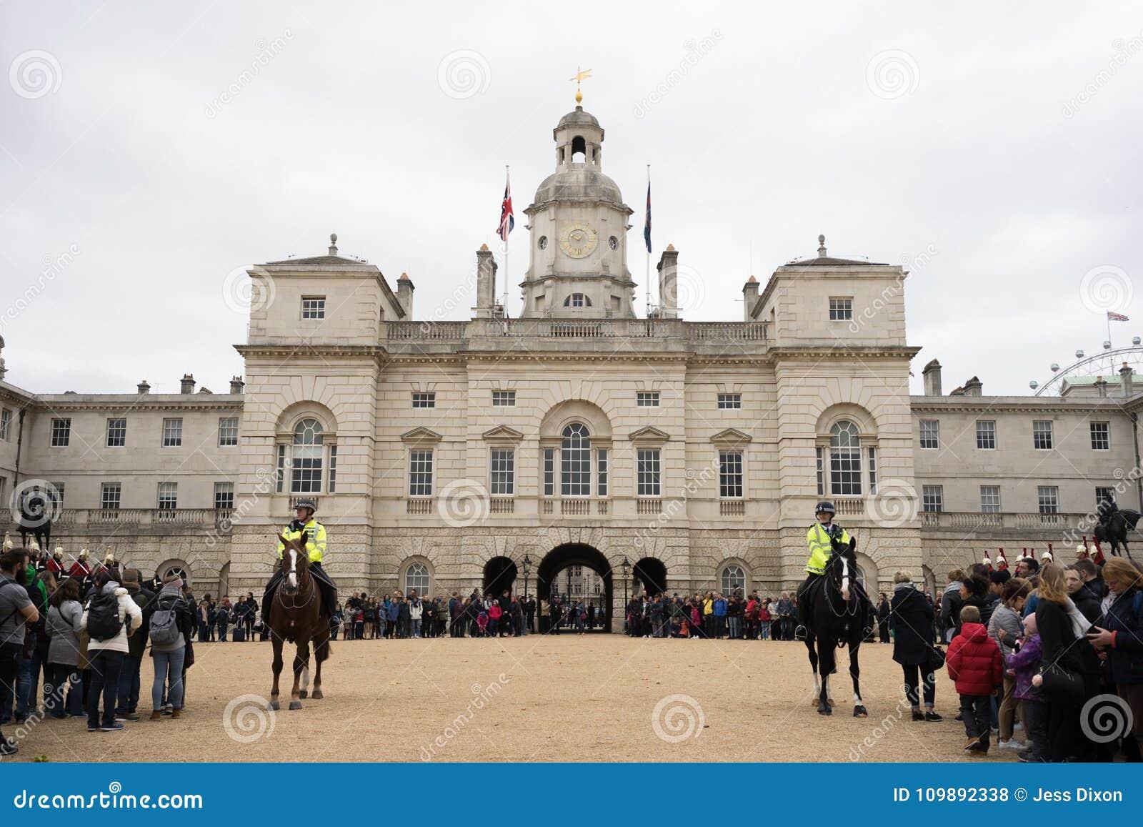 De paardwachten paraderen, Londen, Engeland