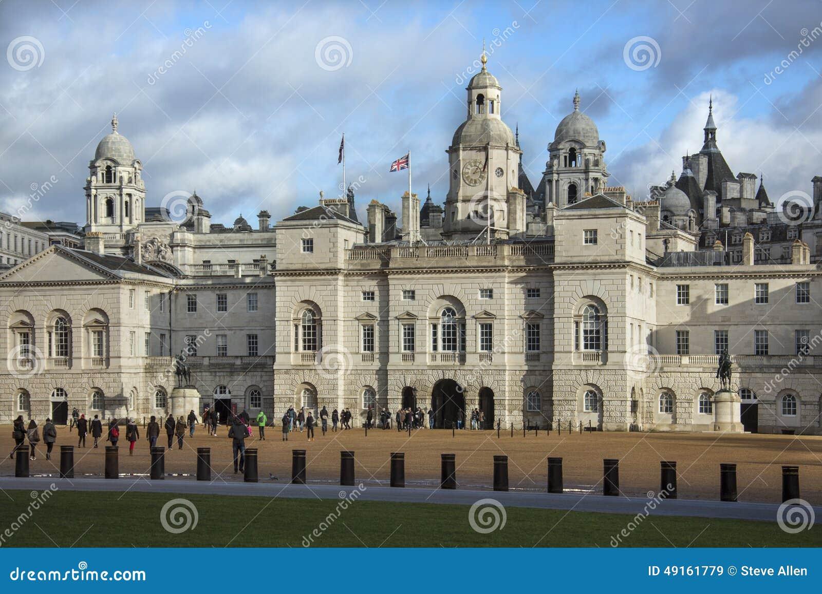 De paardwachten paraderen - Londen - Engeland