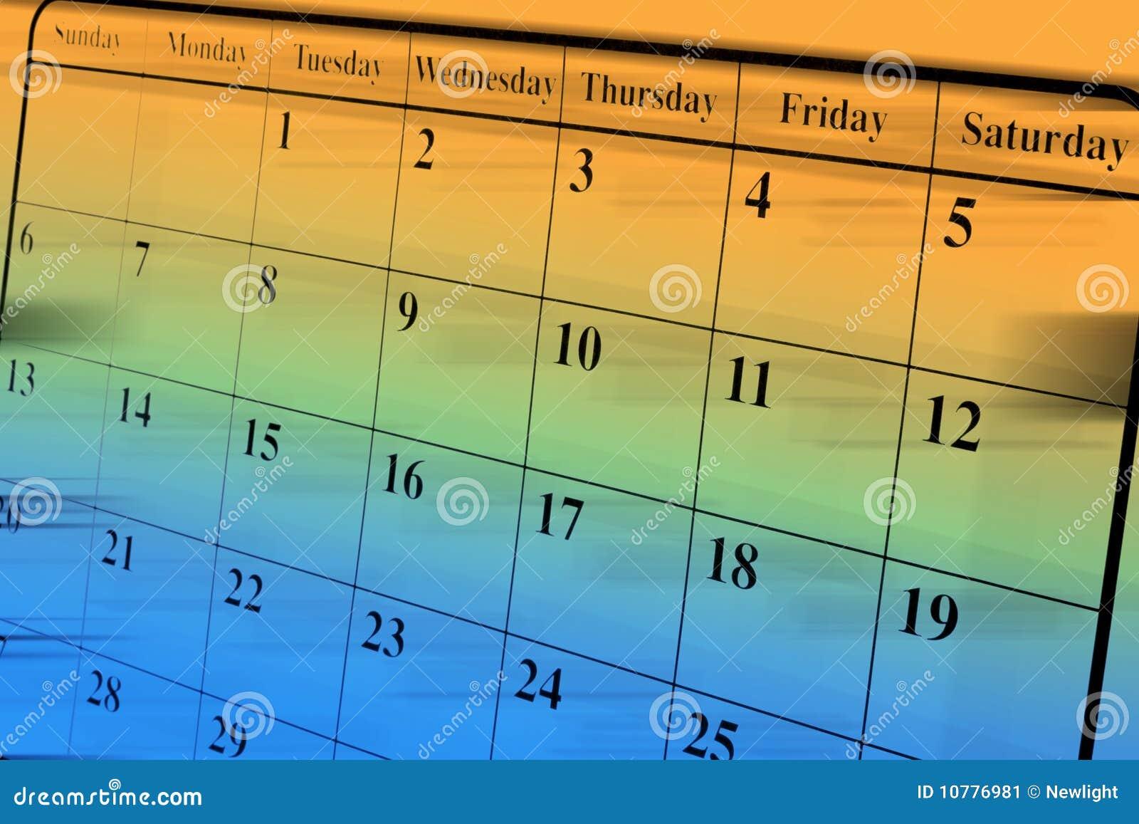 De Pagina van de kalender