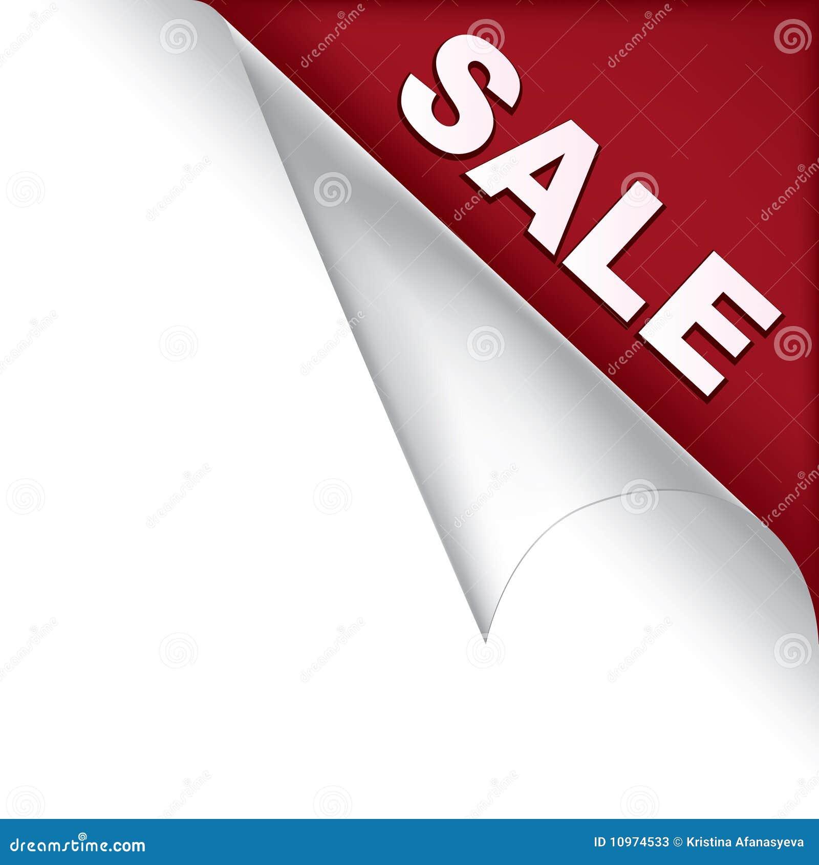 De paginahoek van de verkoop